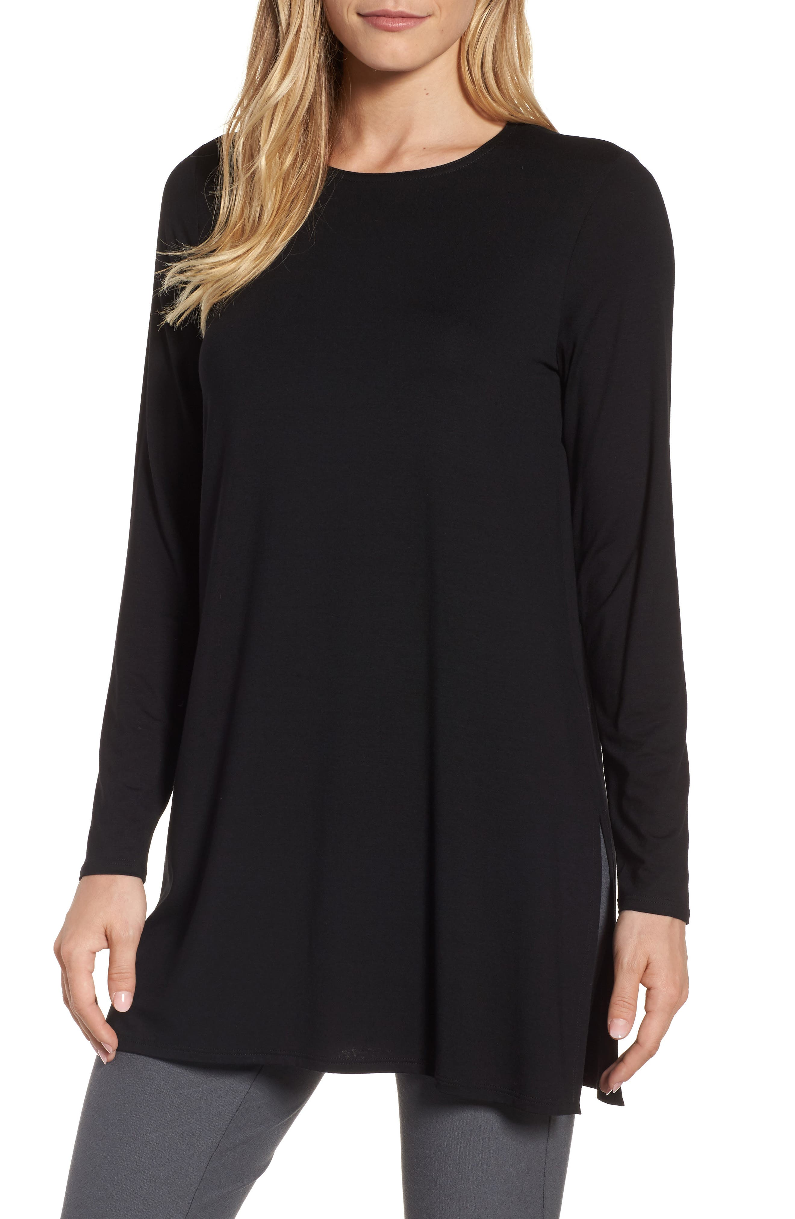 Jersey Tunic,                             Main thumbnail 1, color,                             Black