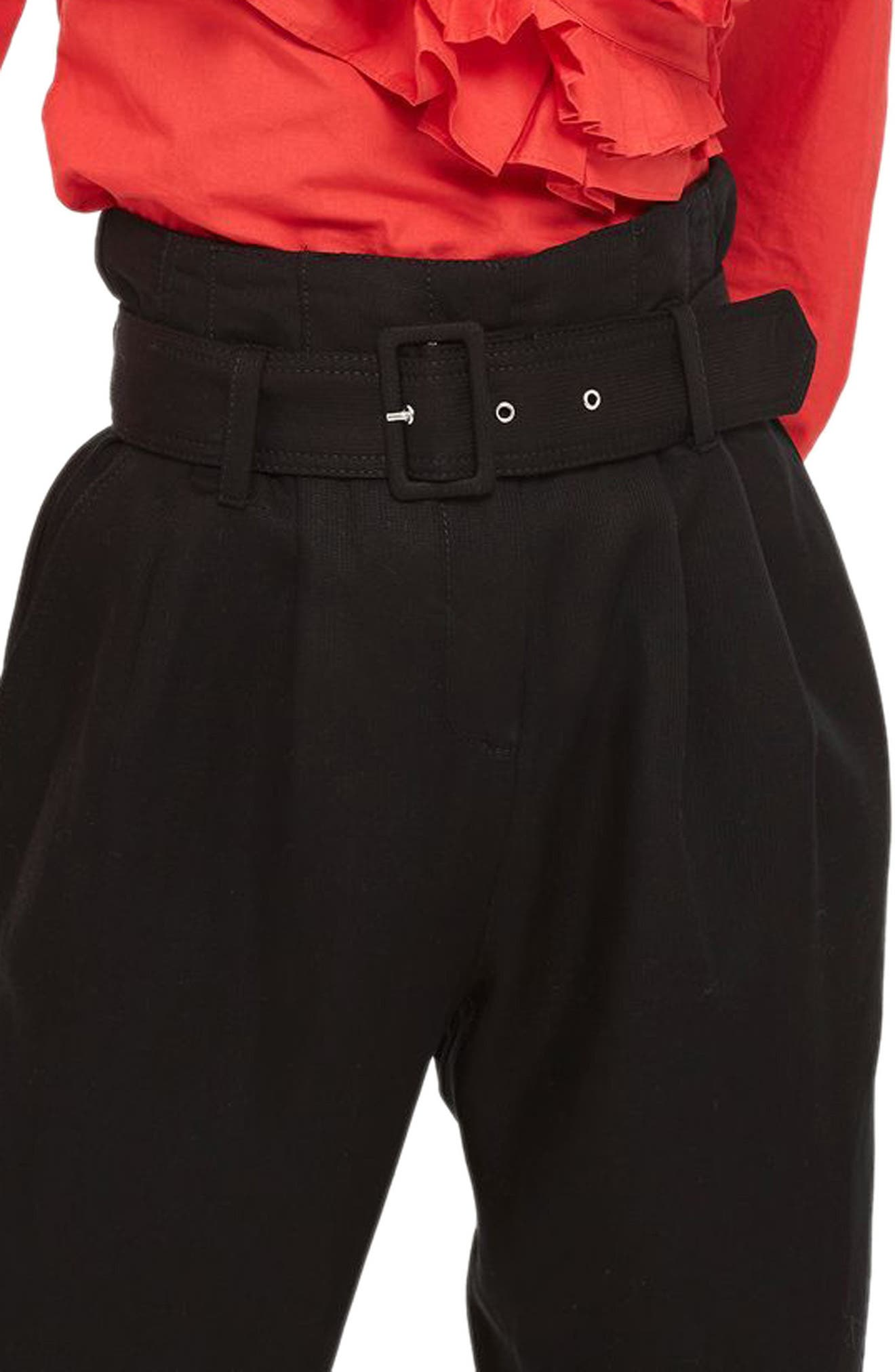 Alternate Image 3  - Topshop Mensy Belted Trousers