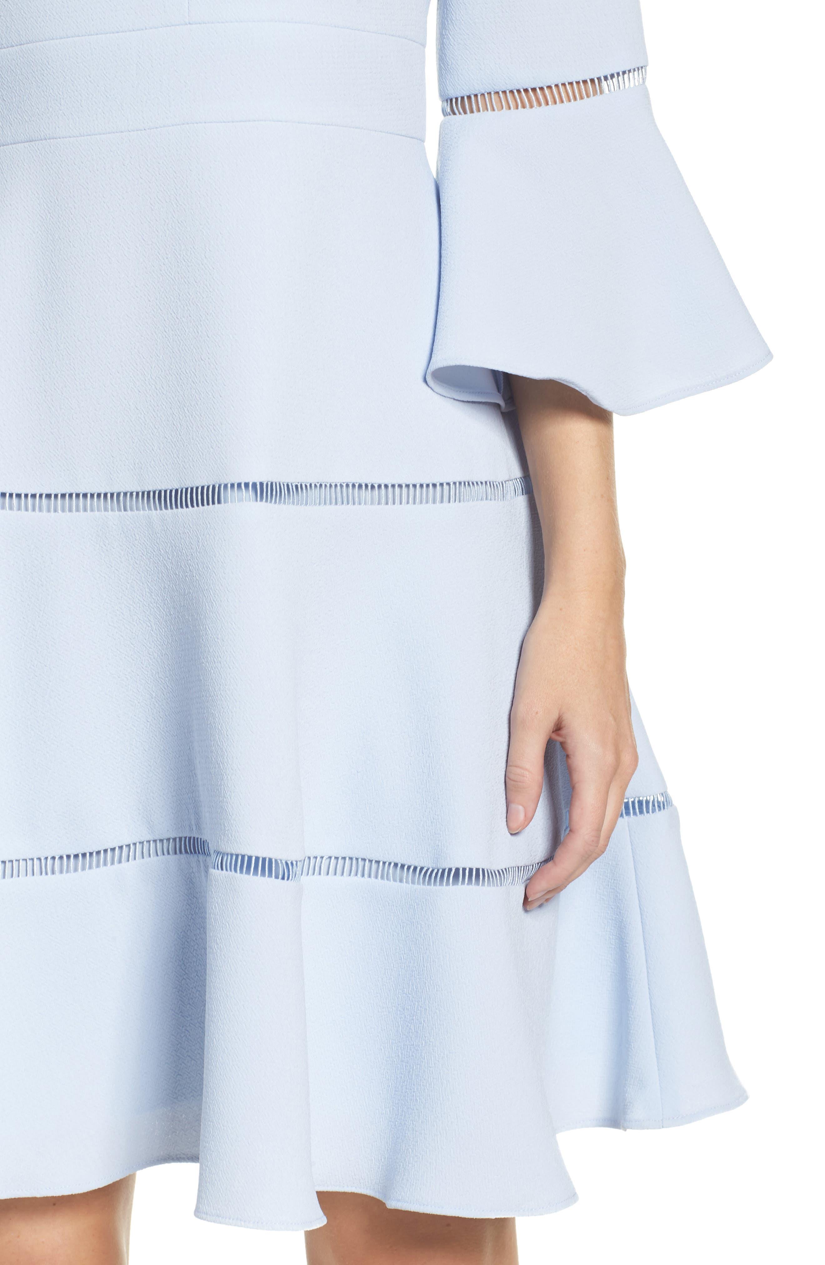Alternate Image 4  - Eliza J Lace Inset Fit & Flare Dress (Regular & Petite)