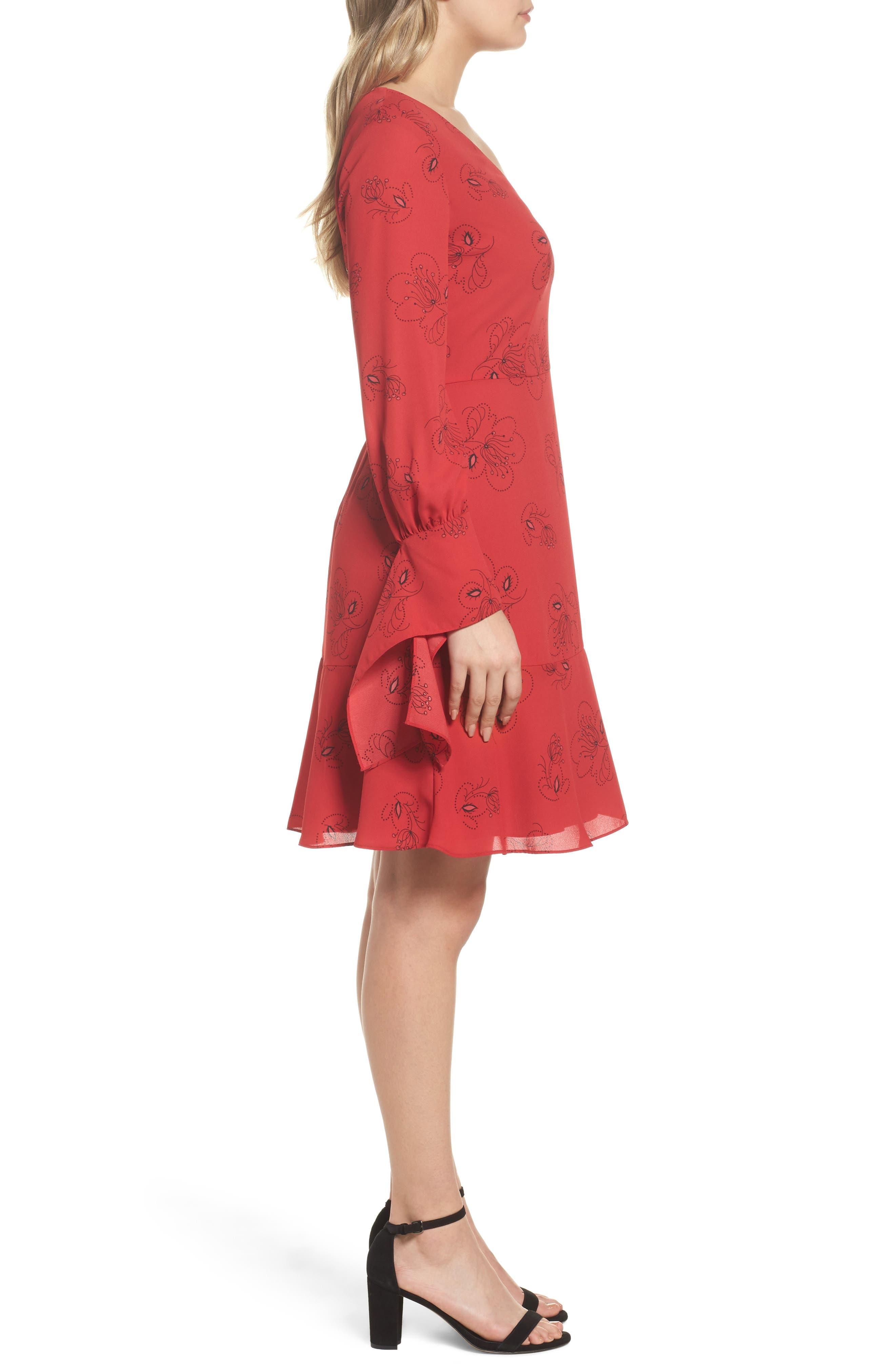 Lizzie Shift Dress,                             Alternate thumbnail 3, color,                             Pomegranate Multi