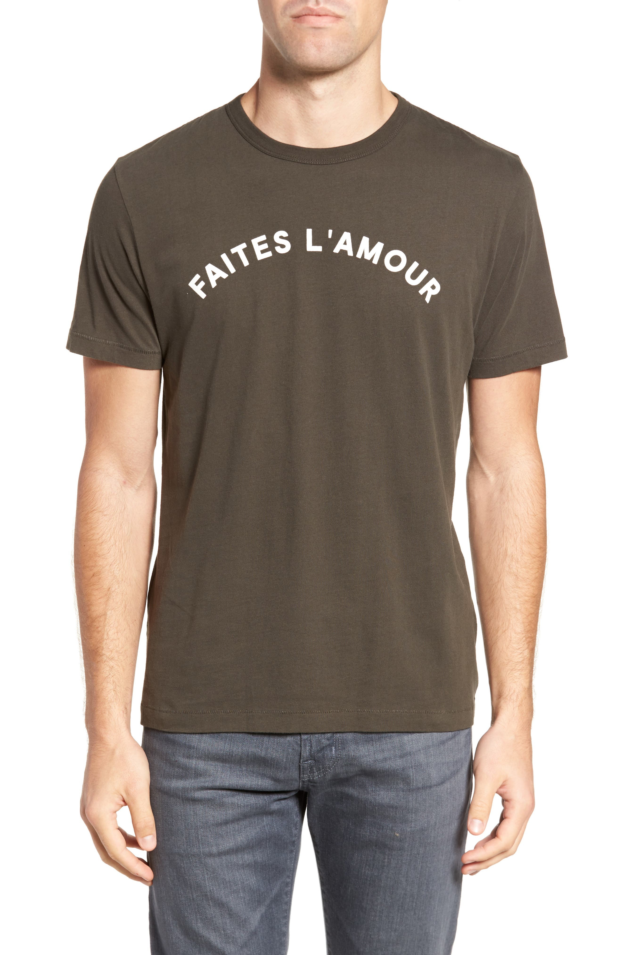 Alternate Image 1 Selected - French Connection Faites L'Amour Regular Fit T-Shirt