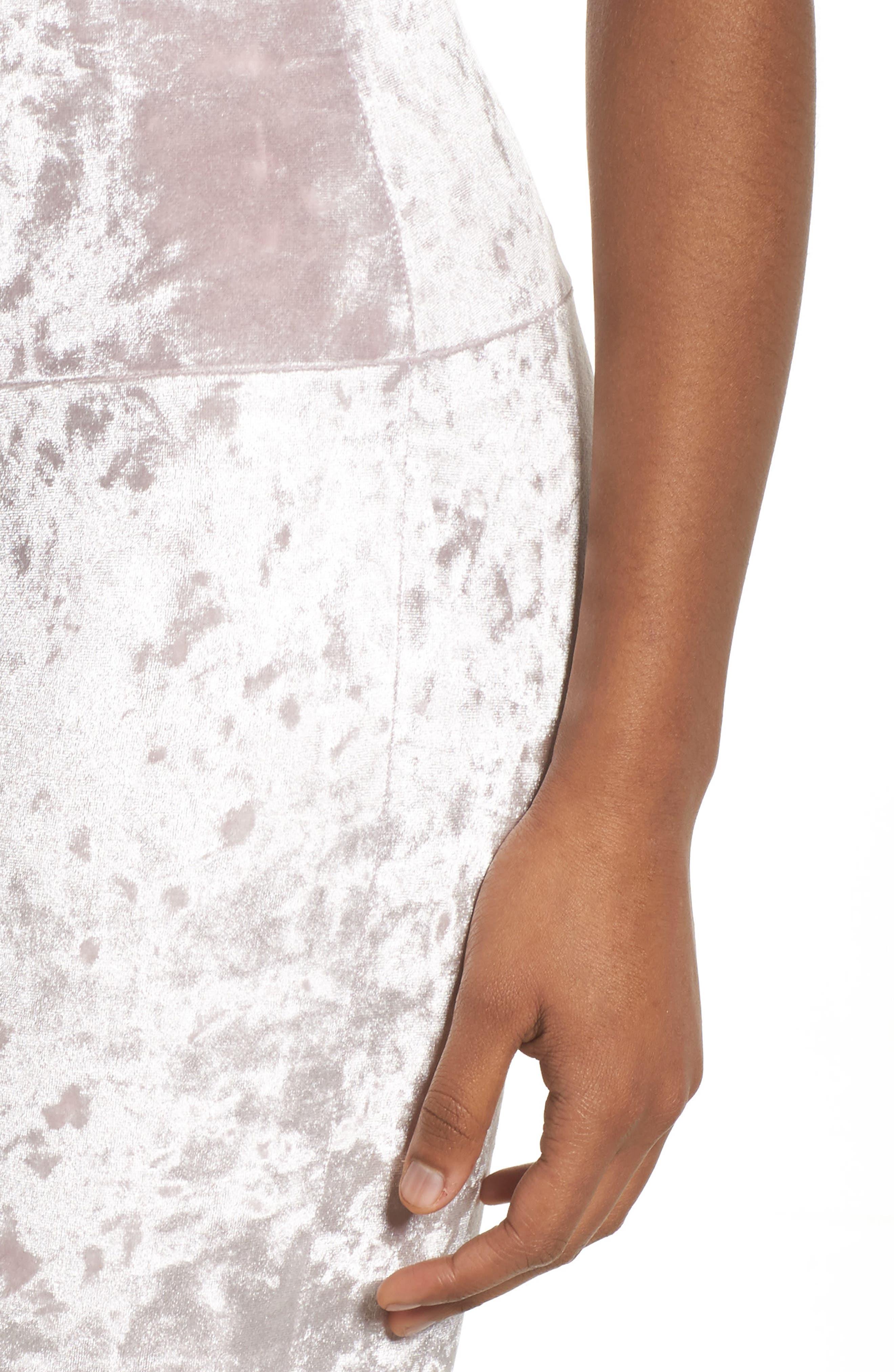 Flare Leg Yoga Pants,                             Alternate thumbnail 4, color,                             Mist Crushed Velvet