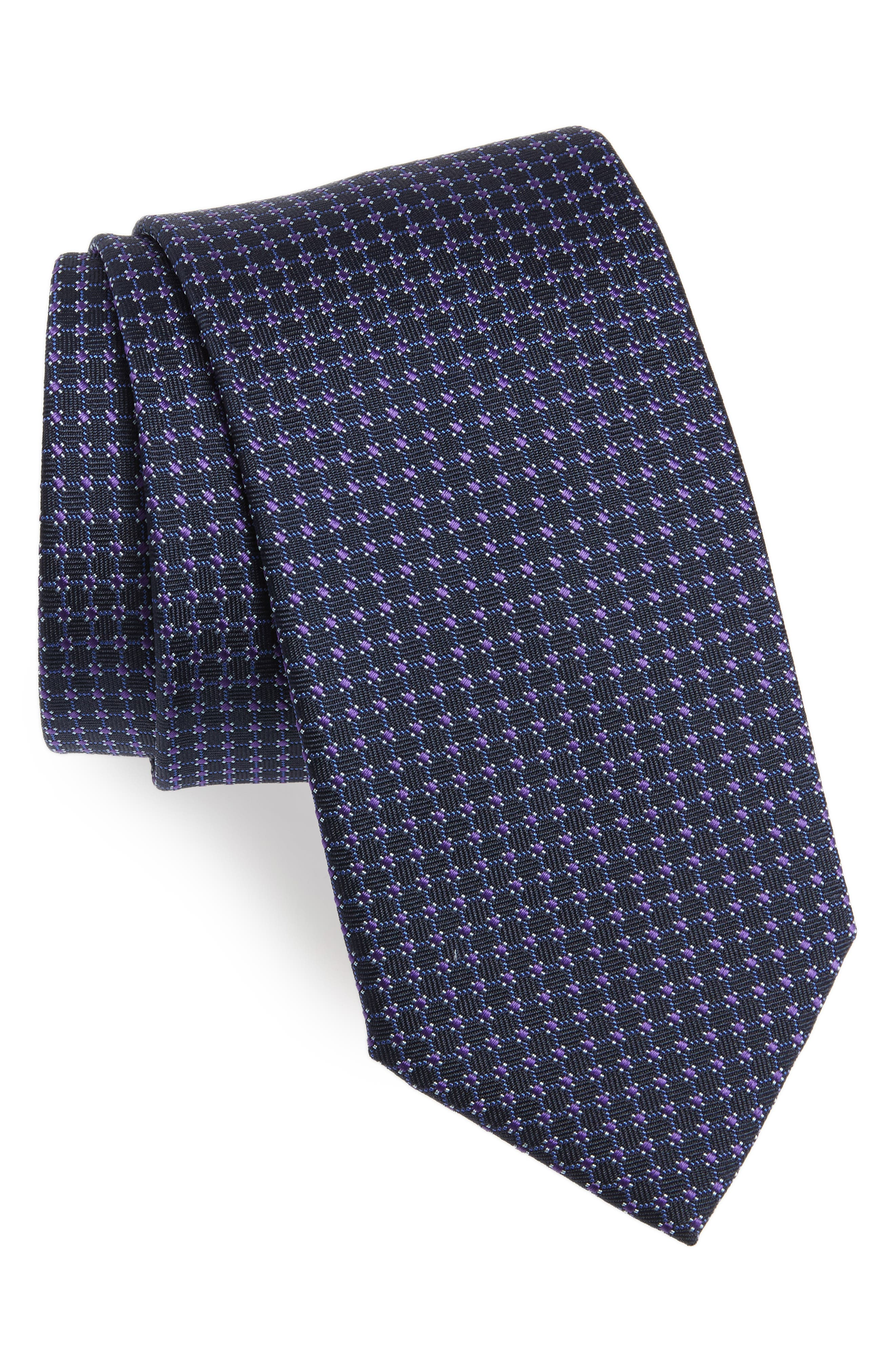 Hugo Boss Geometric Silk Tie