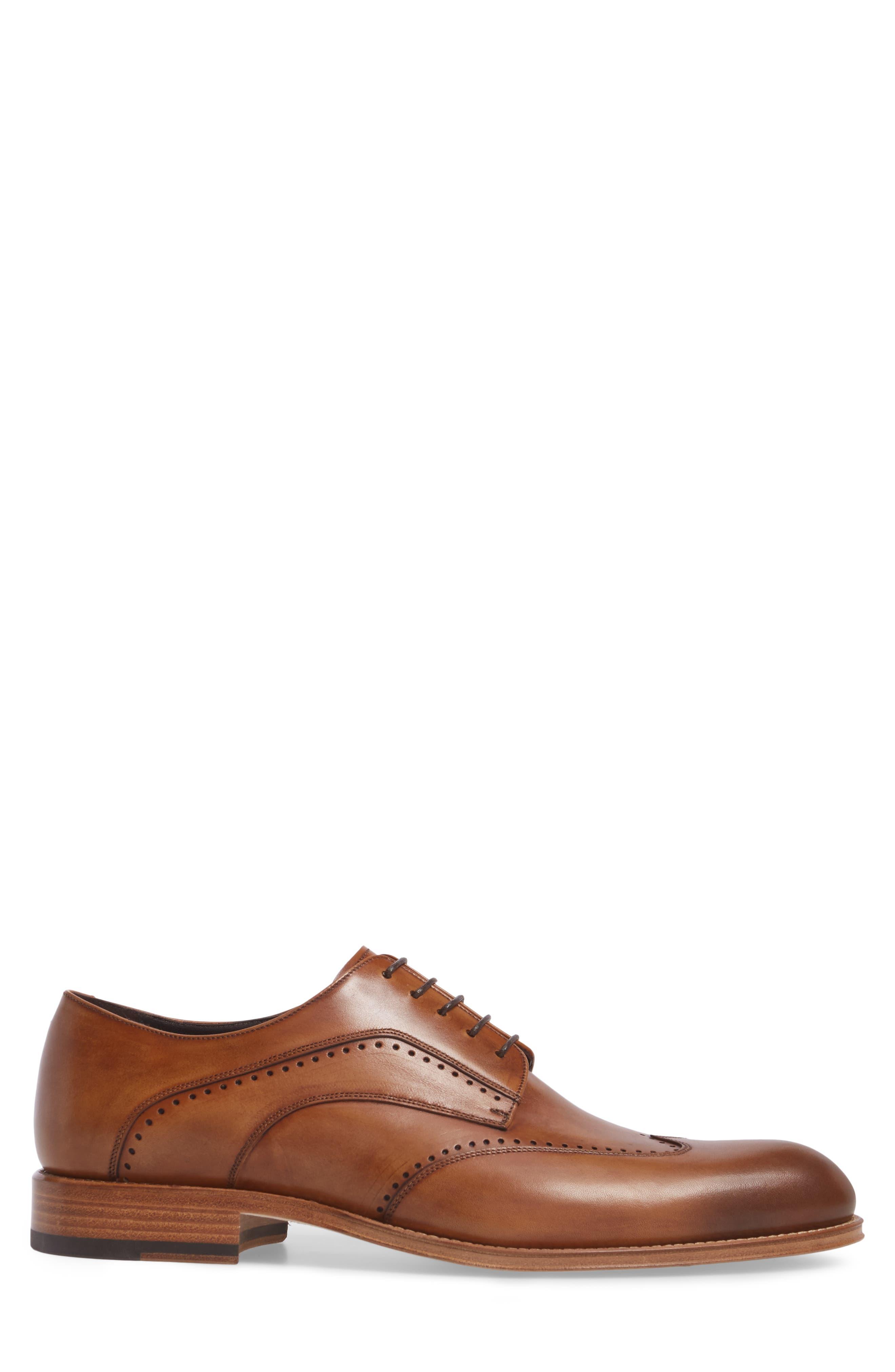 Francesco Wingtip Derby,                             Alternate thumbnail 3, color,                             Tan Leather