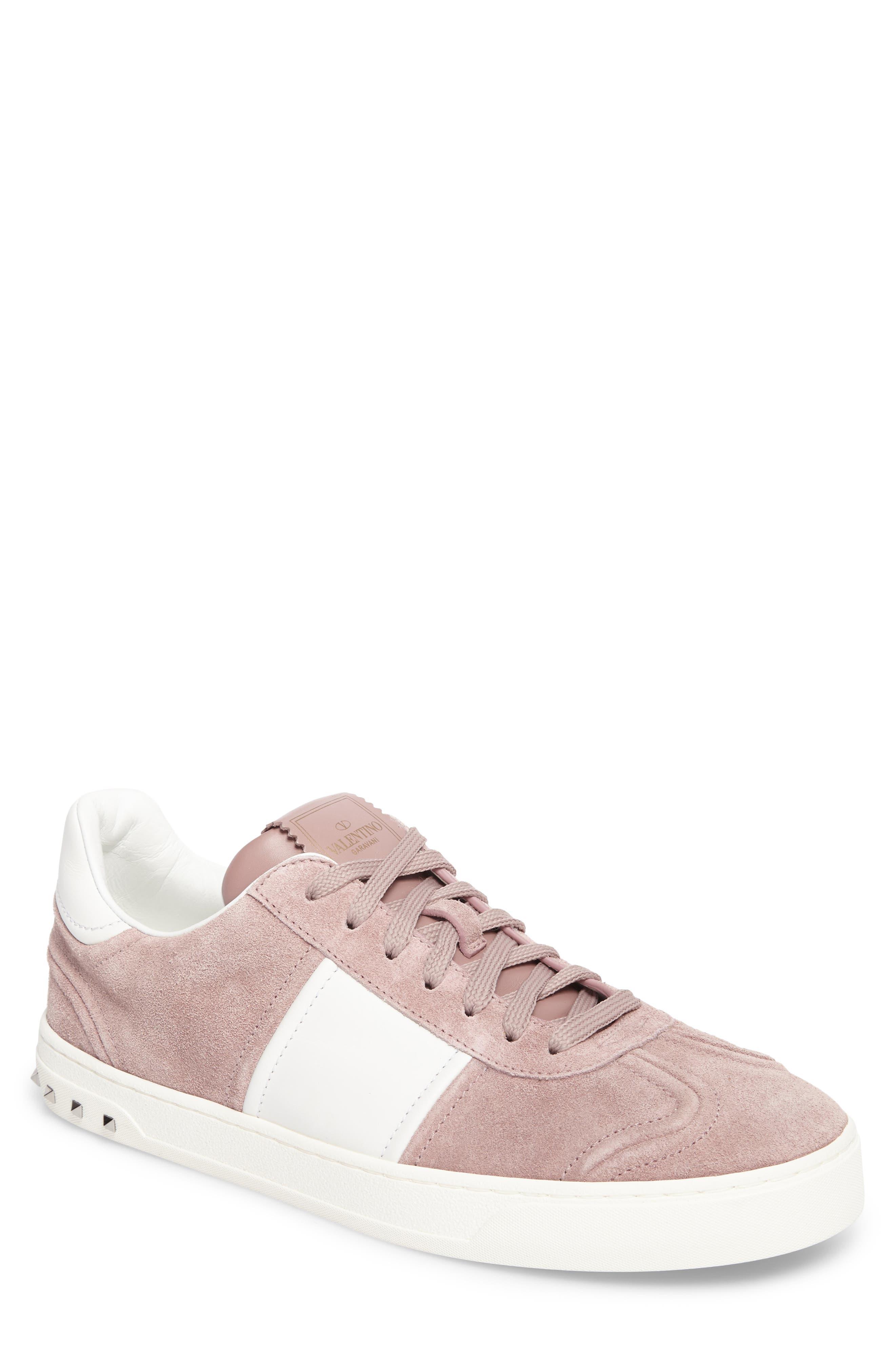 Fly Crew Sneaker,                         Main,                         color, Lipstick/ Bianco