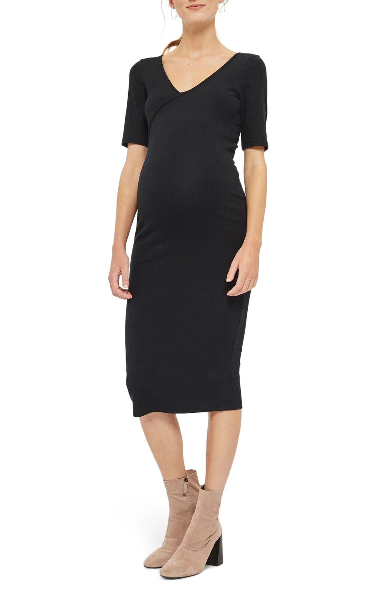 Topshop Kaia Bodycon Maternity Midi Dress