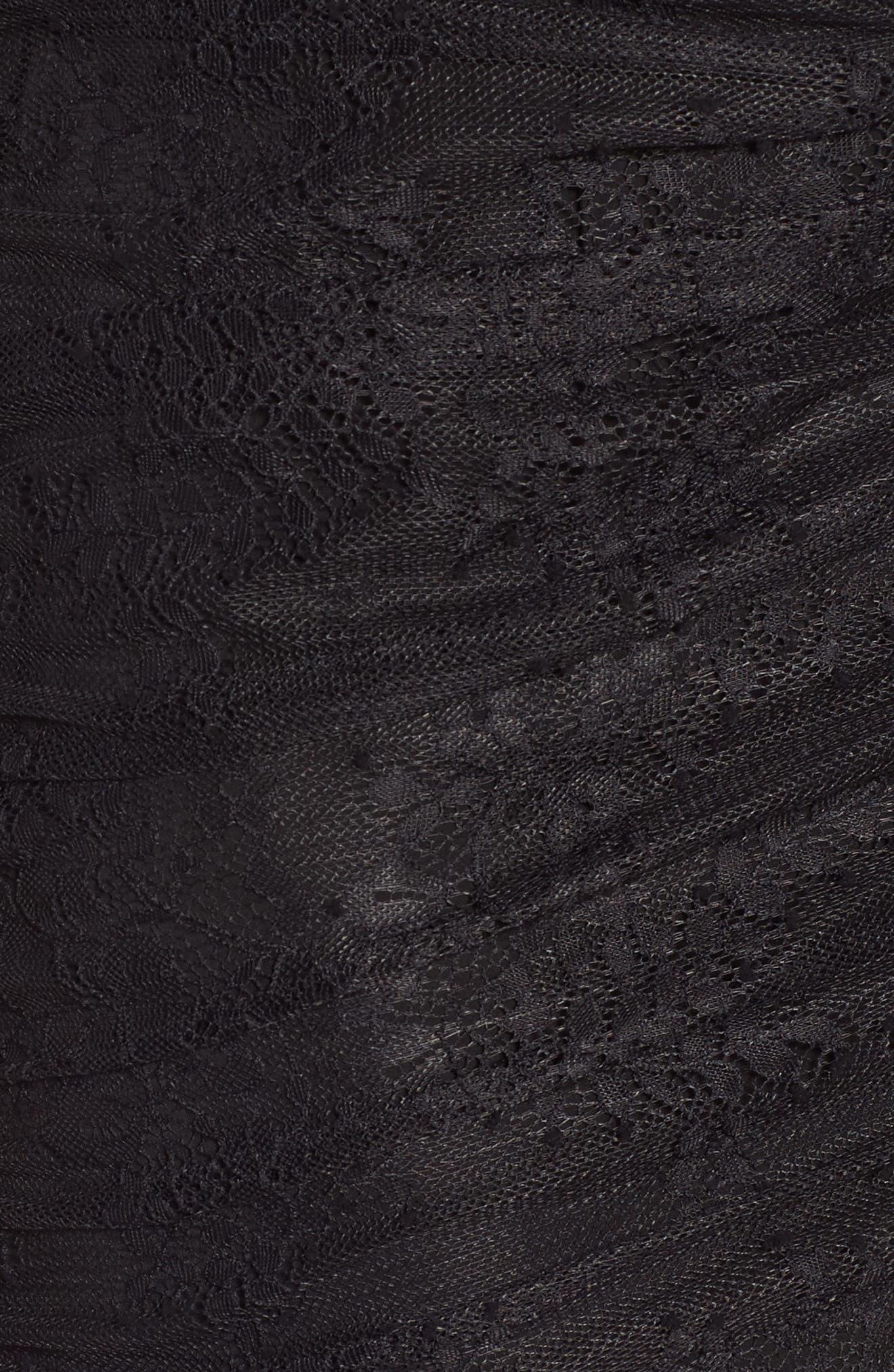 Daisy Lace Minidress,                             Alternate thumbnail 5, color,                             Black