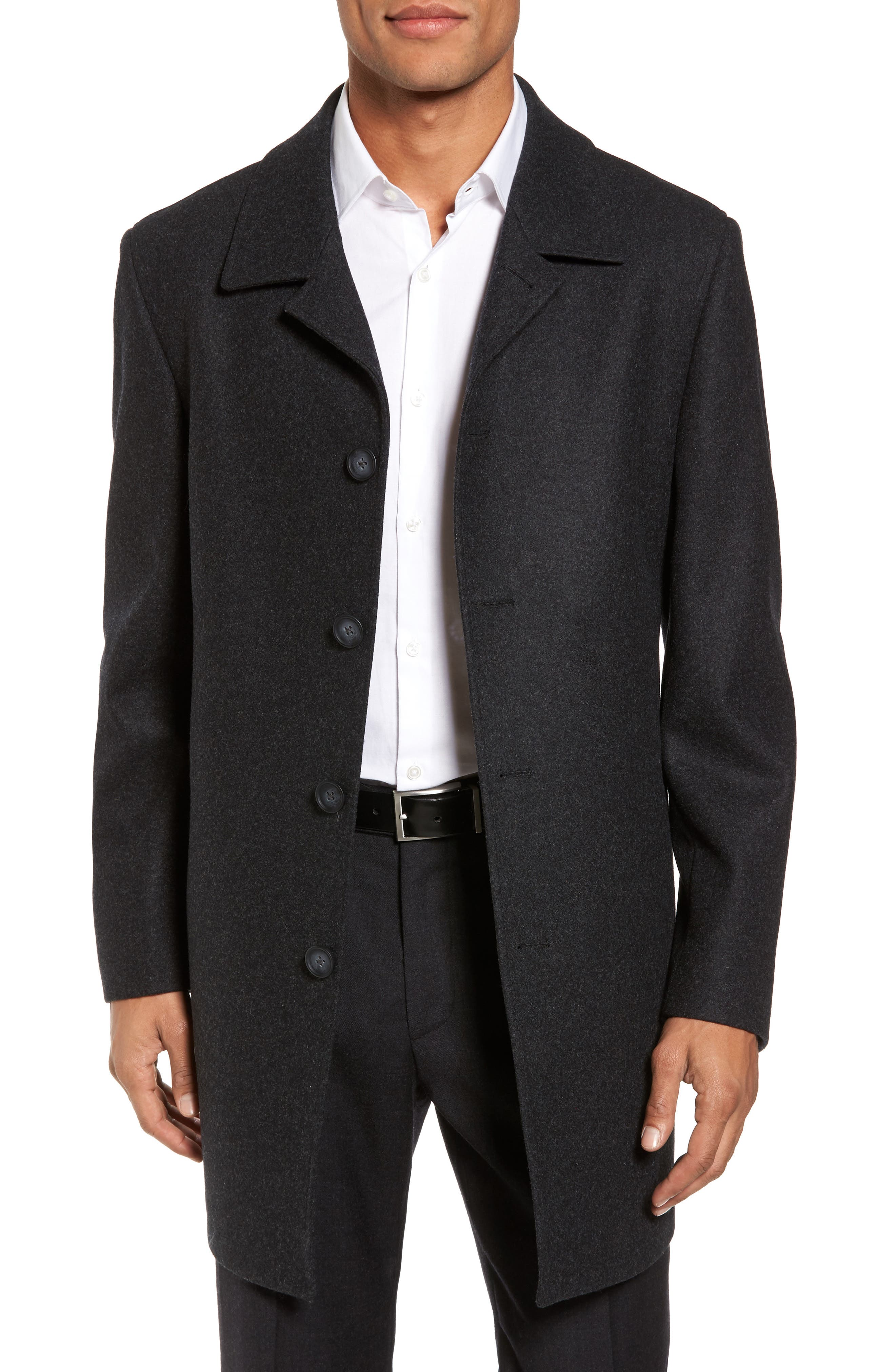 Nordstrom Men's Shop Wool Blend Car Coat