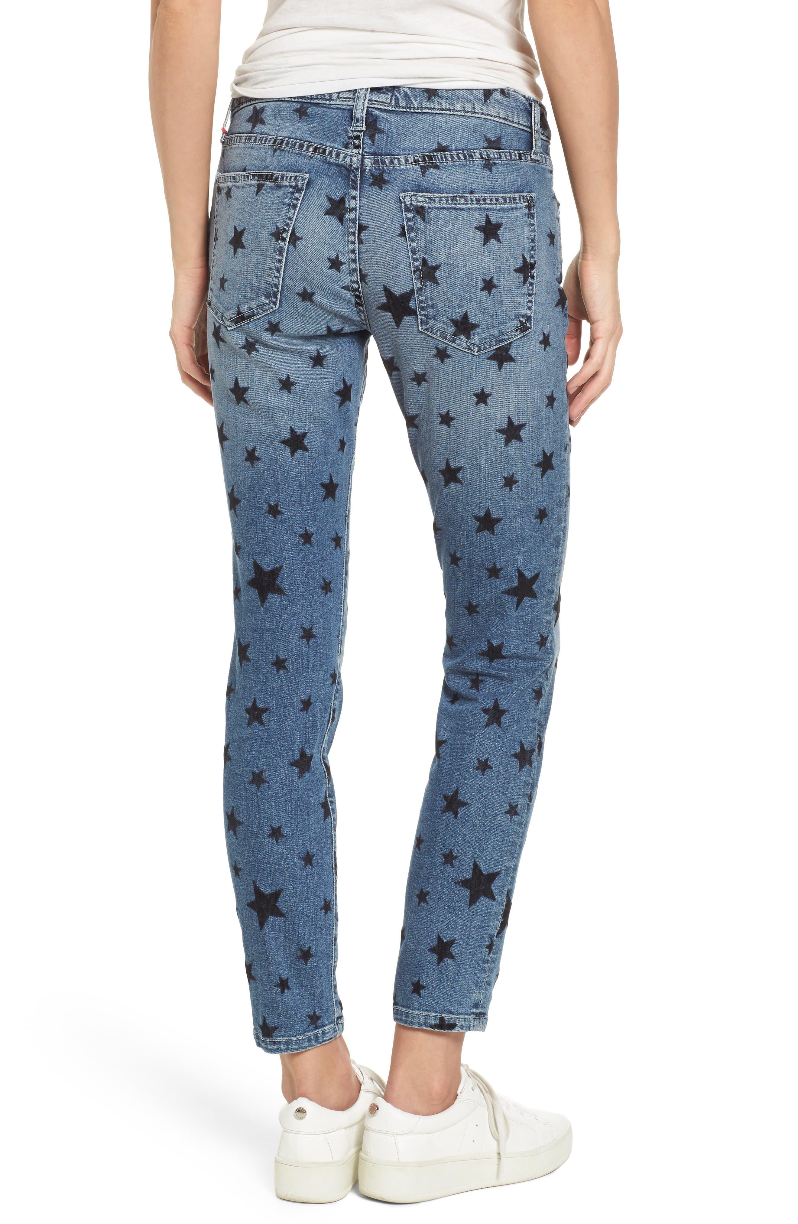 The Stiletto Skinny Jeans,                             Alternate thumbnail 2, color,                             Flocked Star