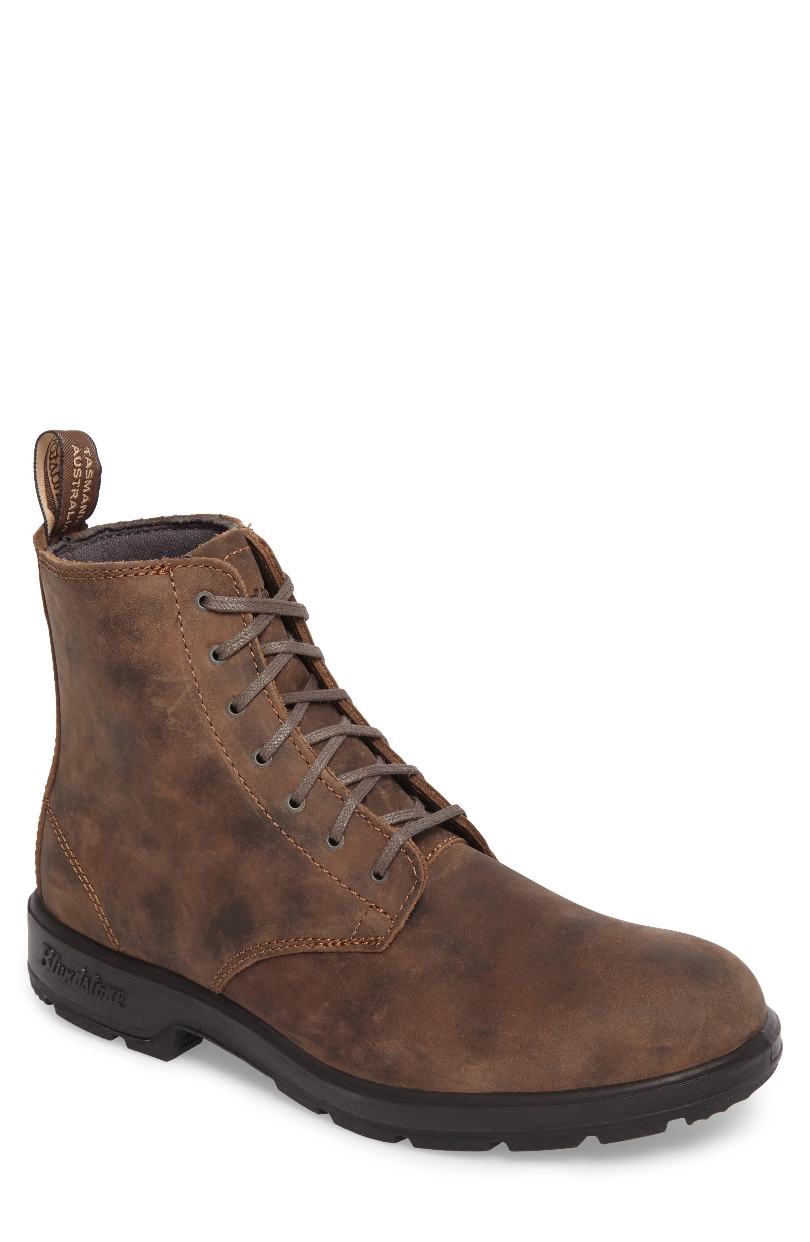 Original Plain Toe Boot,                         Main,                         color, Rustic Brown Leather