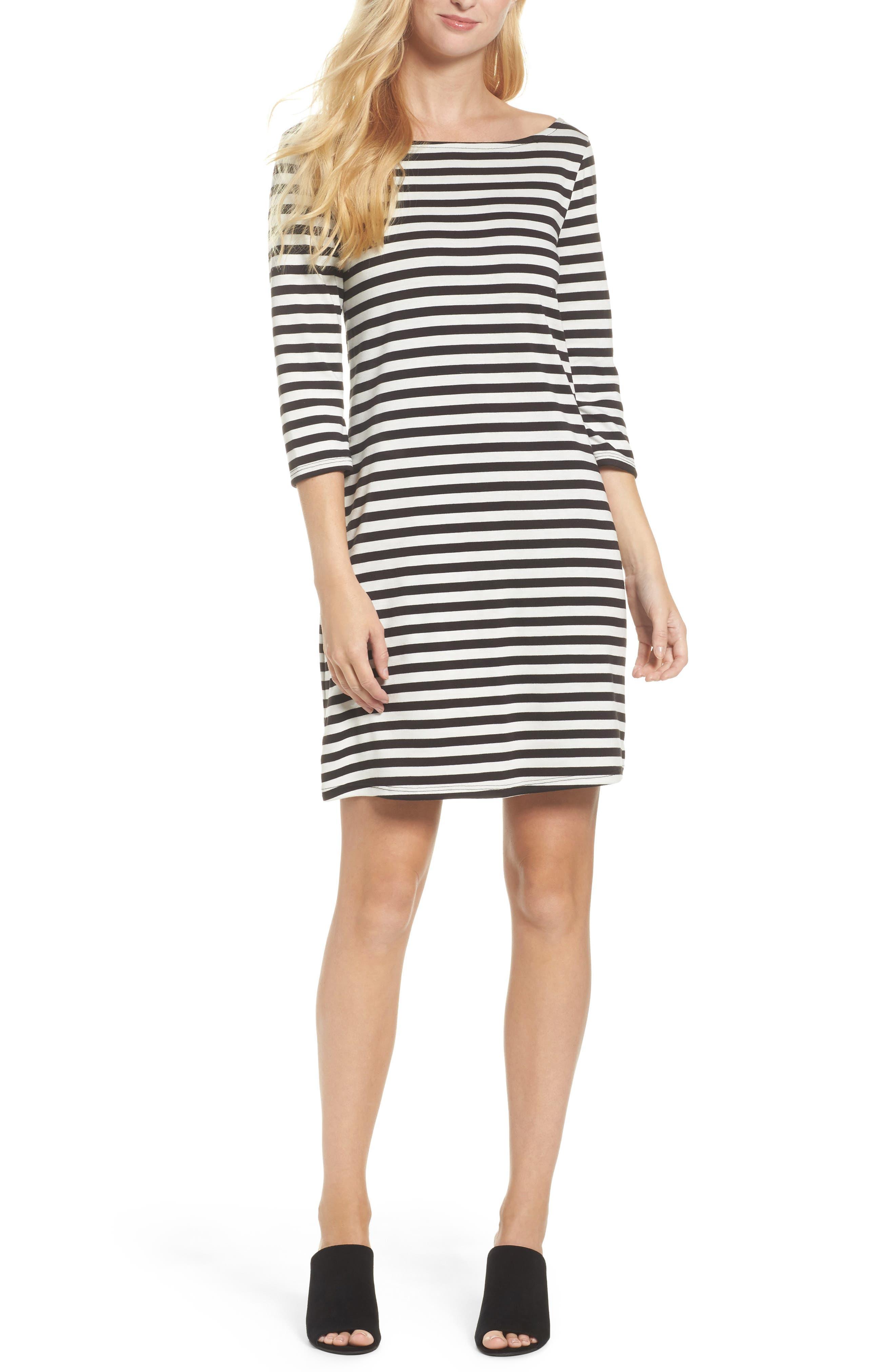 Leota Nouveau Stripe Shift Dress