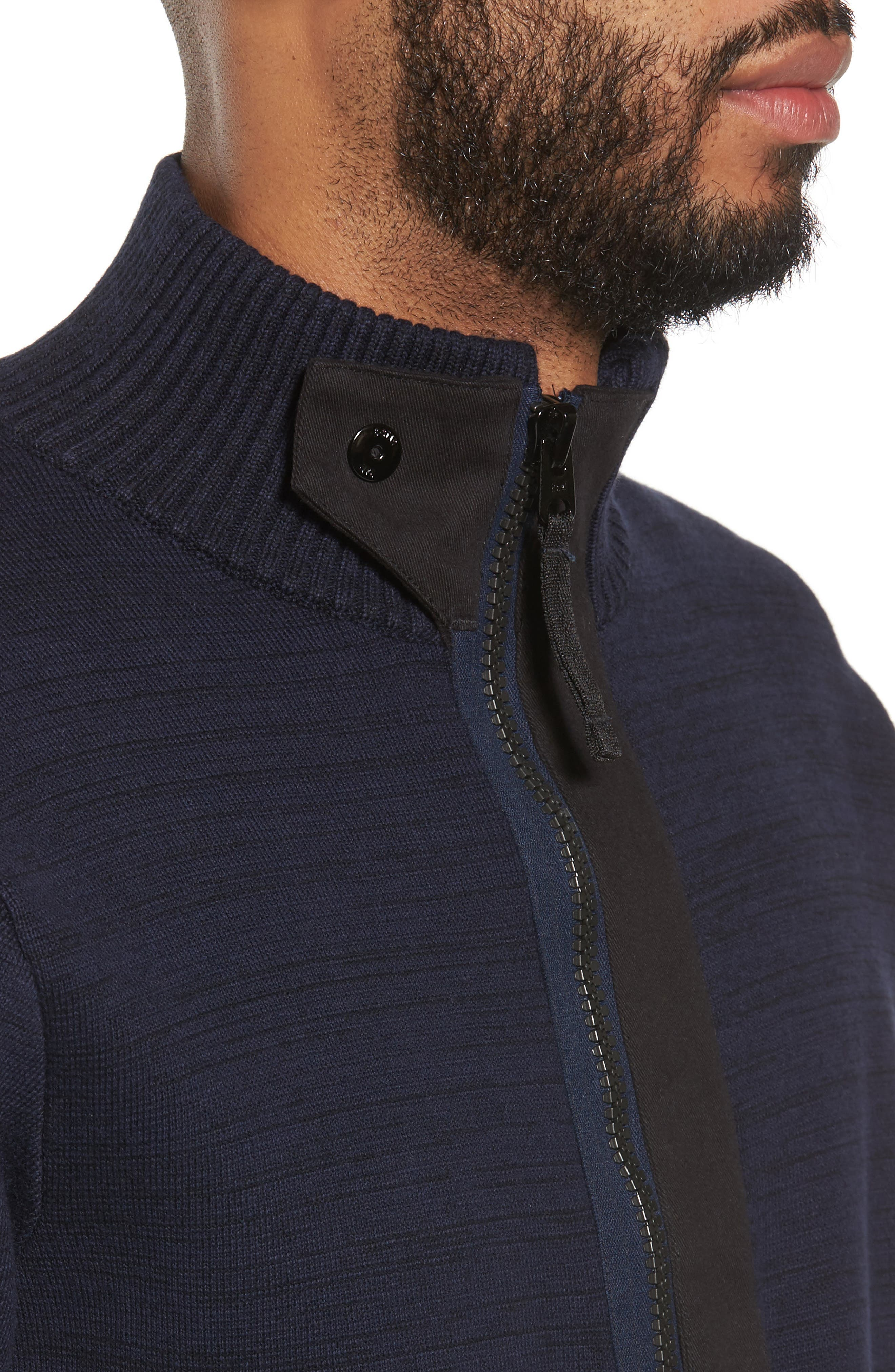 Empral Half-Zip Sweater,                             Alternate thumbnail 4, color,                             Blue/ Dark Black