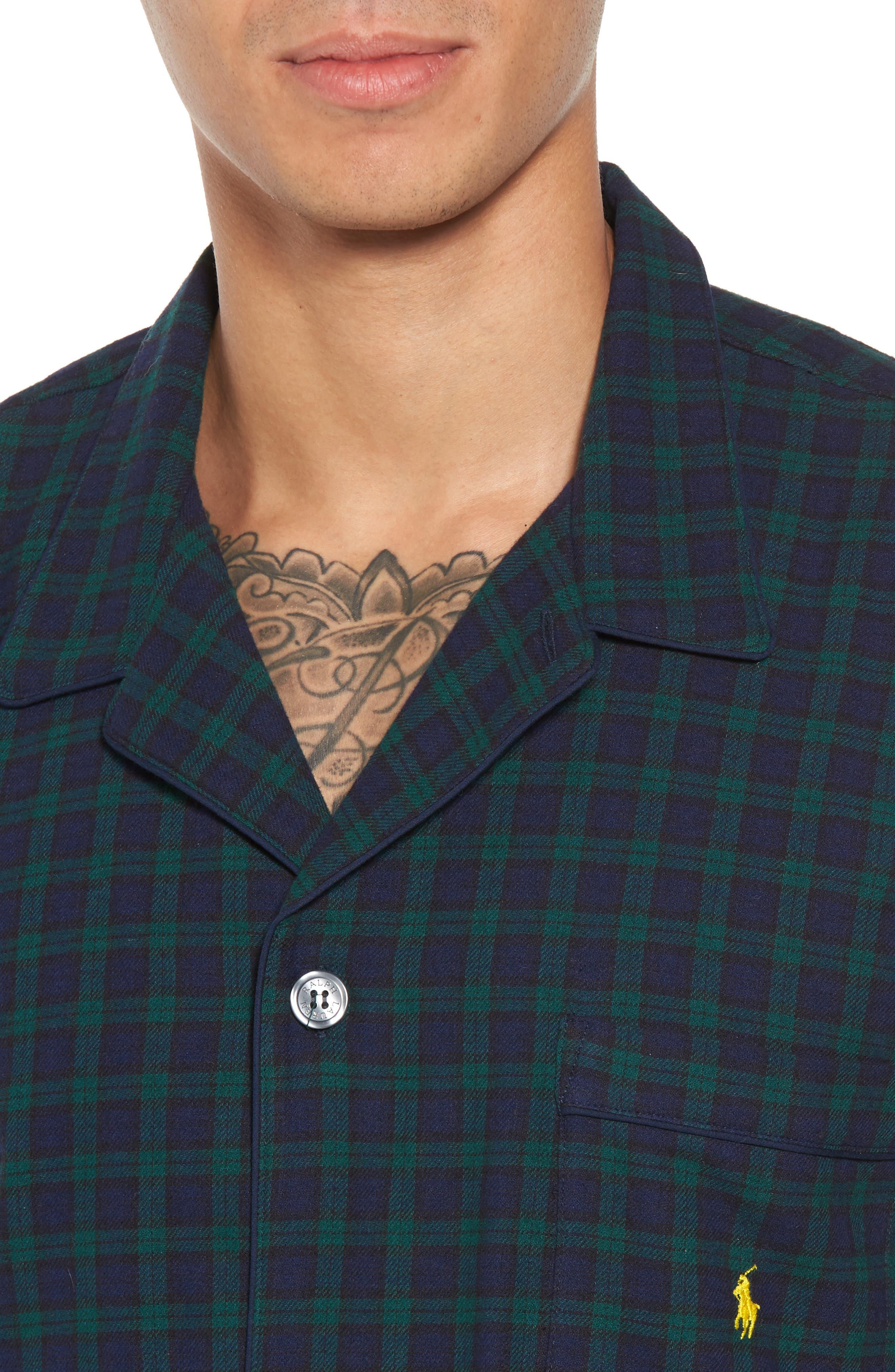 Alternate Image 4  - Polo Ralph Lauren Flannel Pajama Shirt