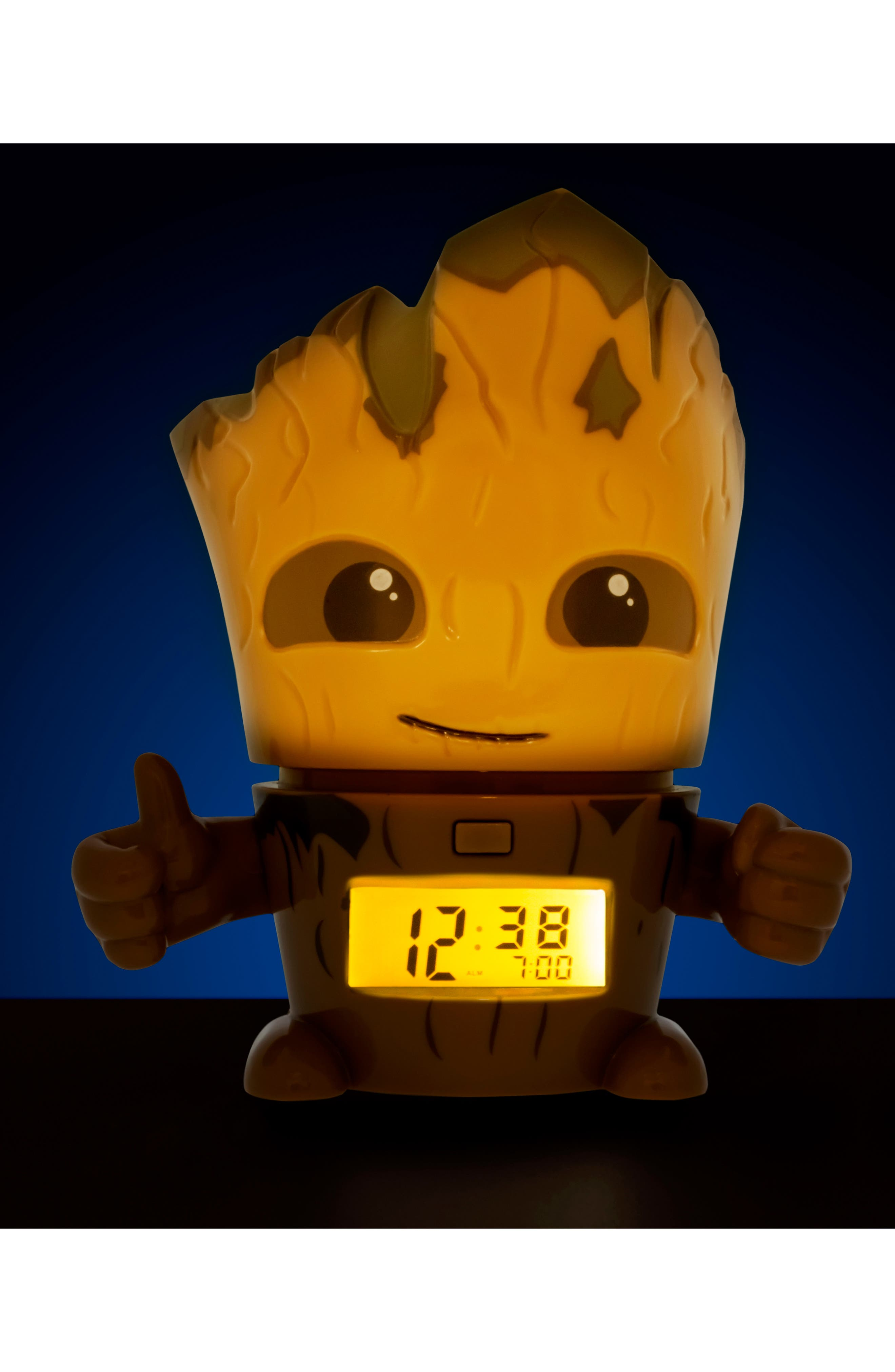 Baby Groot Night-Light/Alarm Clock,                             Alternate thumbnail 2, color,                             Brown