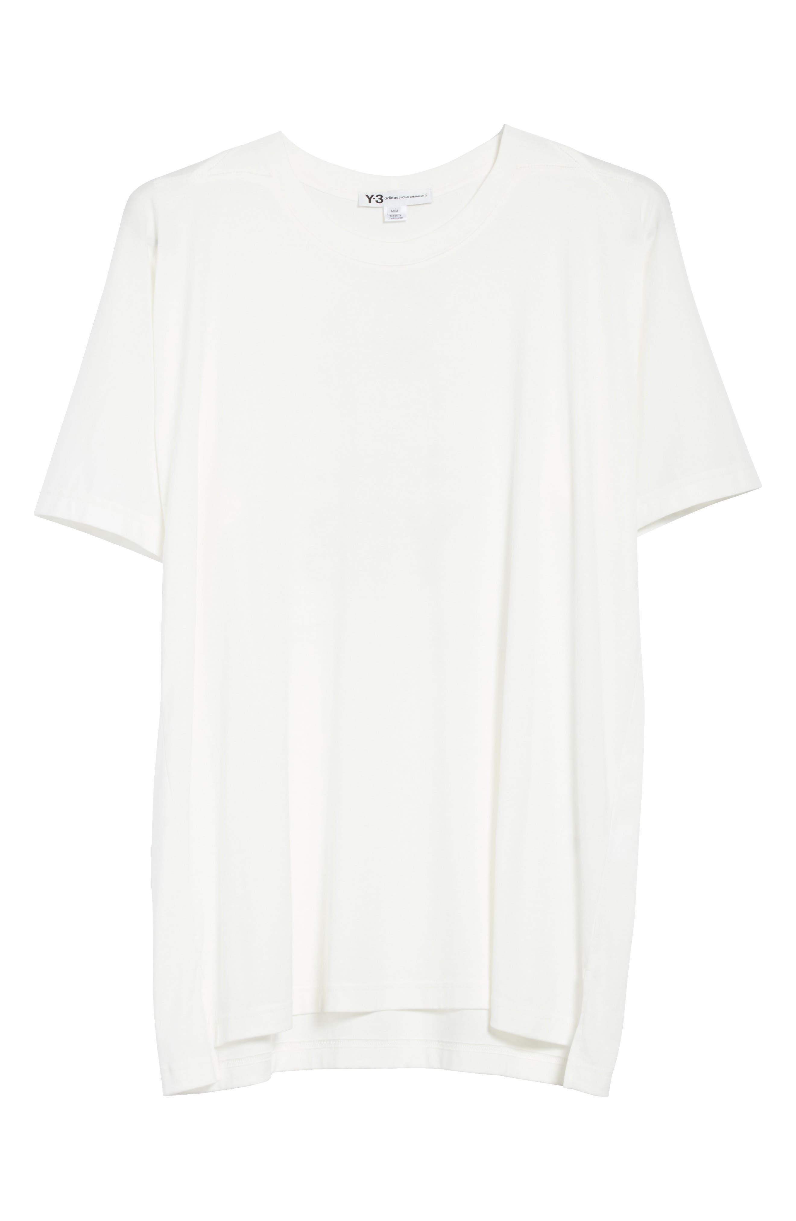Back Logo Print Oversize T-Shirt,                             Alternate thumbnail 6, color,                             White