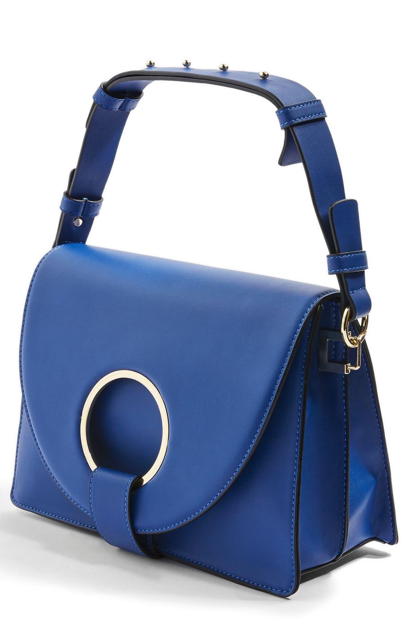 Shay Ring Shoulder Bag,                         Main,                         color, Blue