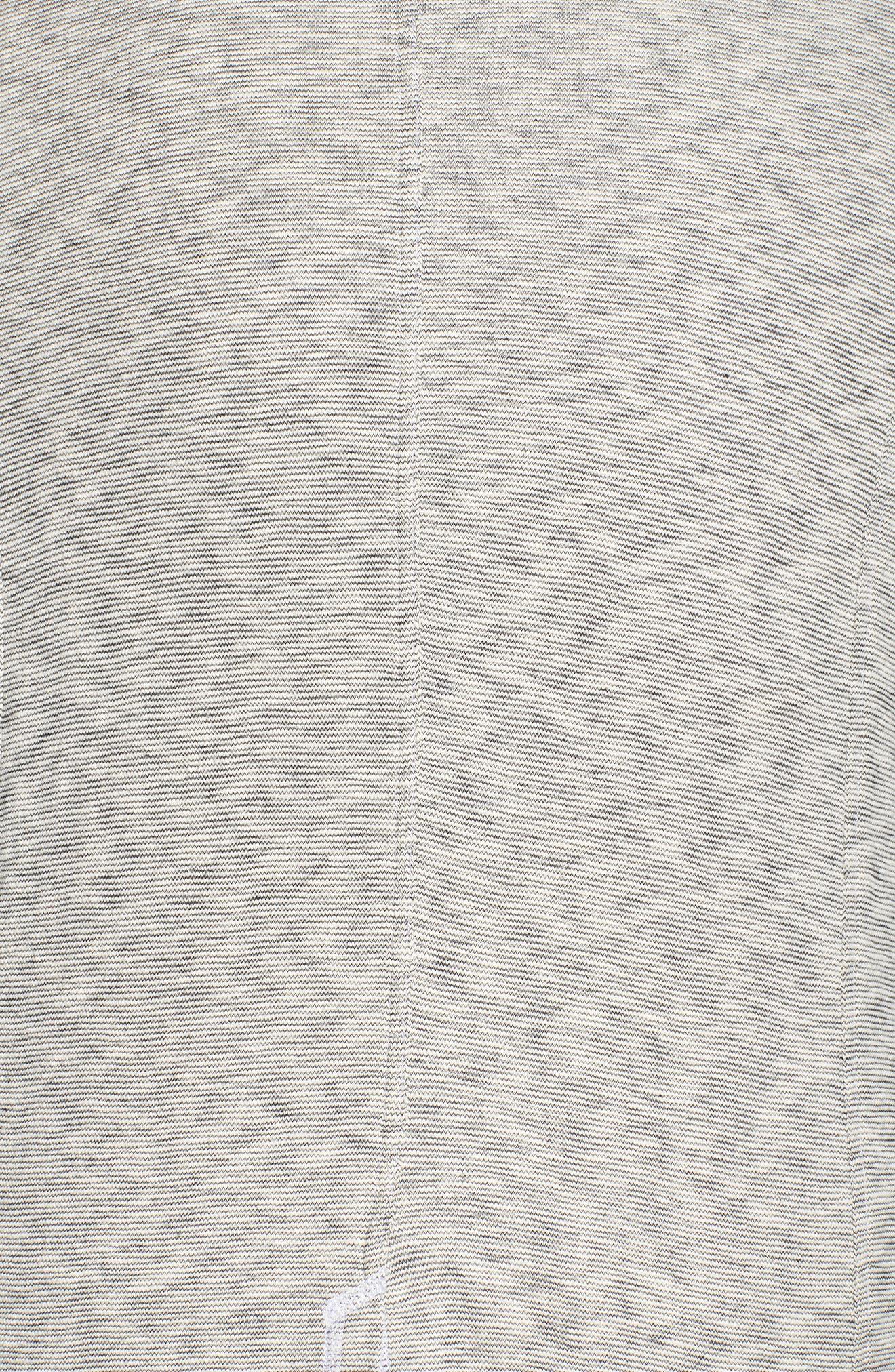 Knit Boyfriend Blazer,                             Alternate thumbnail 5, color,                             Black- Ivory Pattern