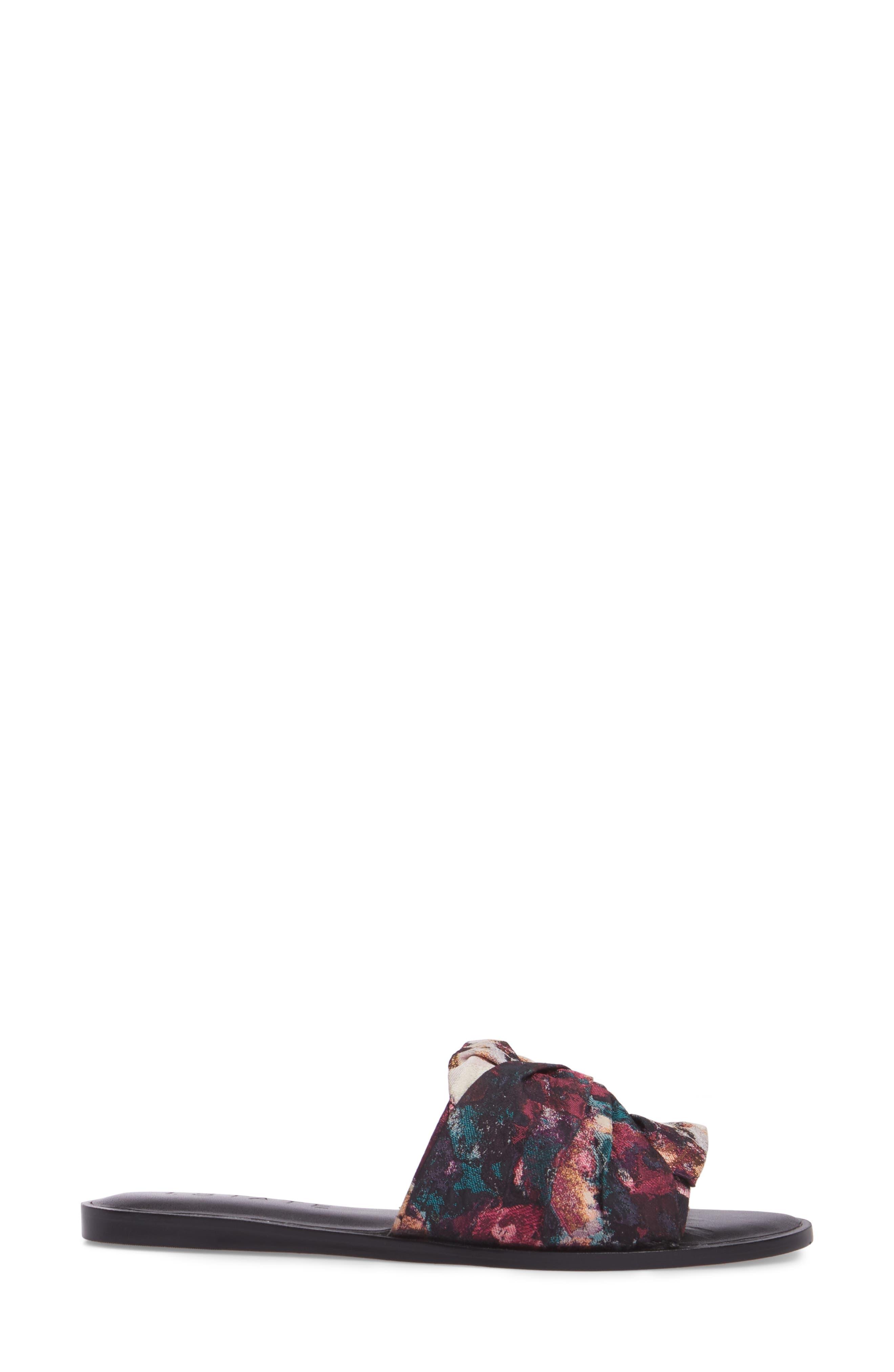 Chevonn Slide Sandal,                             Alternate thumbnail 3, color,                             Floral Print