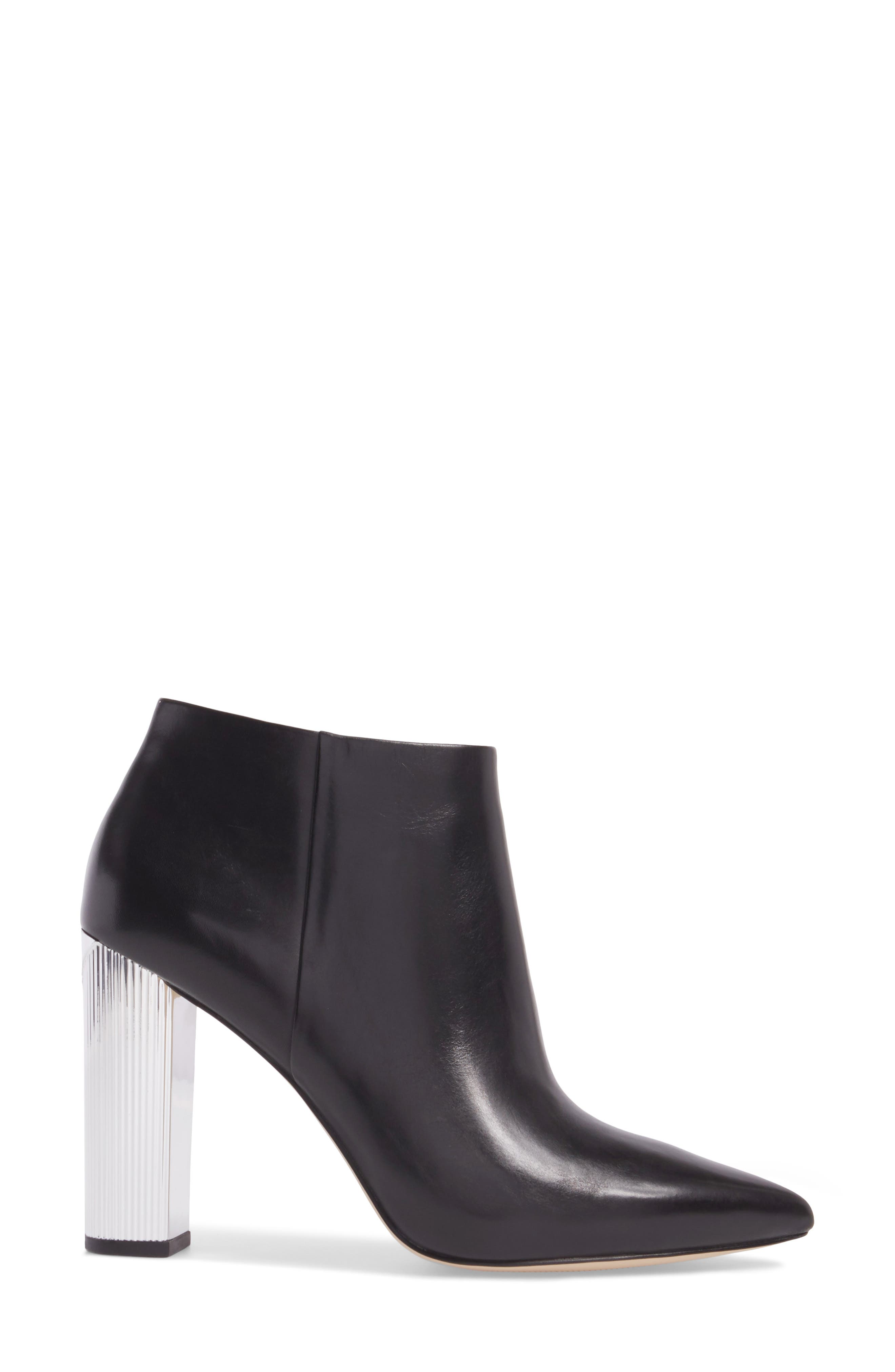 Paloma Bootie,                             Alternate thumbnail 3, color,                             Black Calf Leather