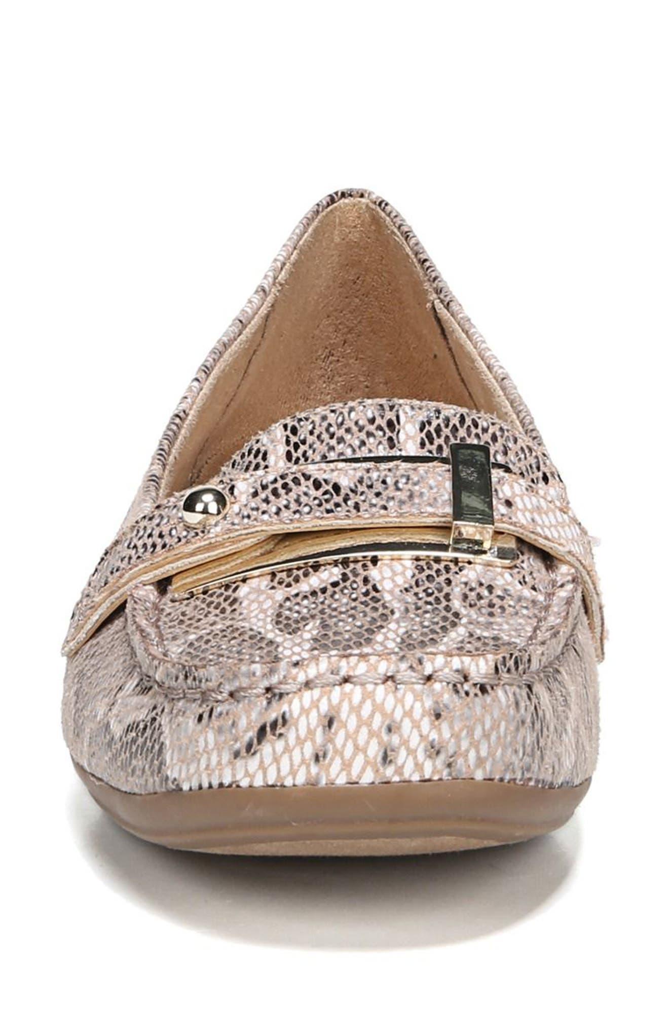 'Gisella' Loafer,                             Alternate thumbnail 4, color,                             Mauve Print Fabric