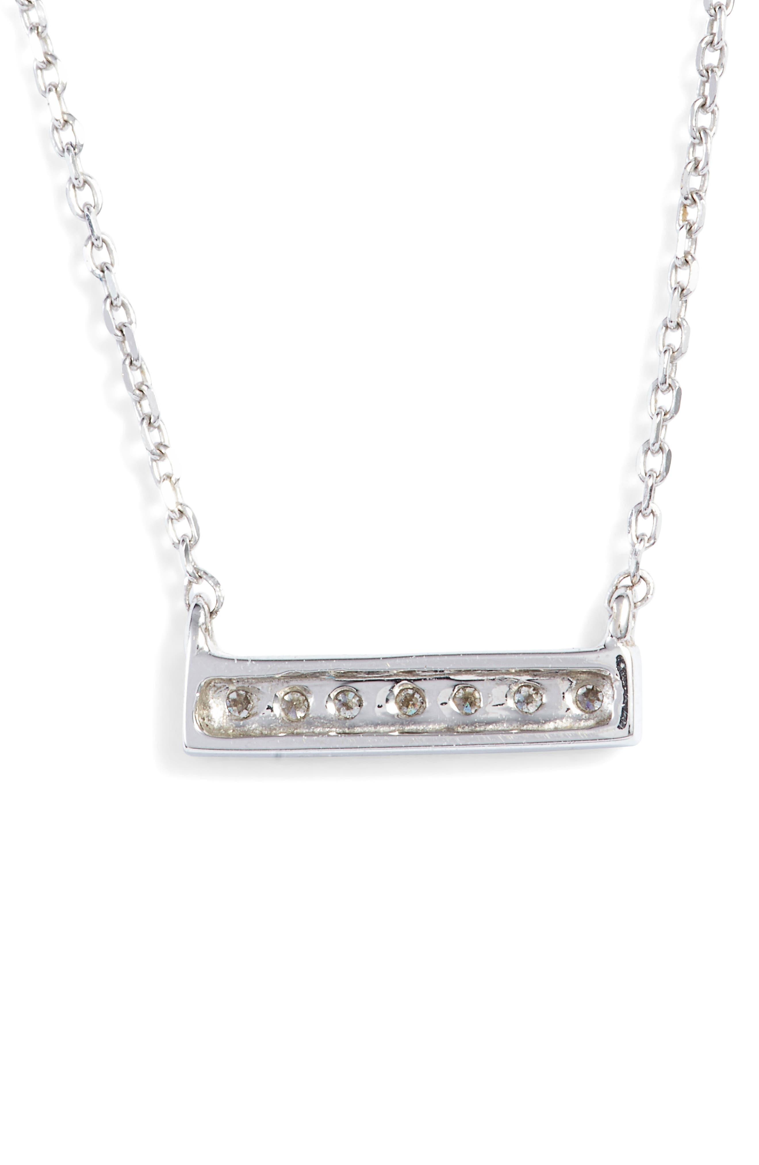 Alternate Image 4  - Dana Rebecca Designs 'Sylvie Rose' Diamond Bar Pendant Necklace