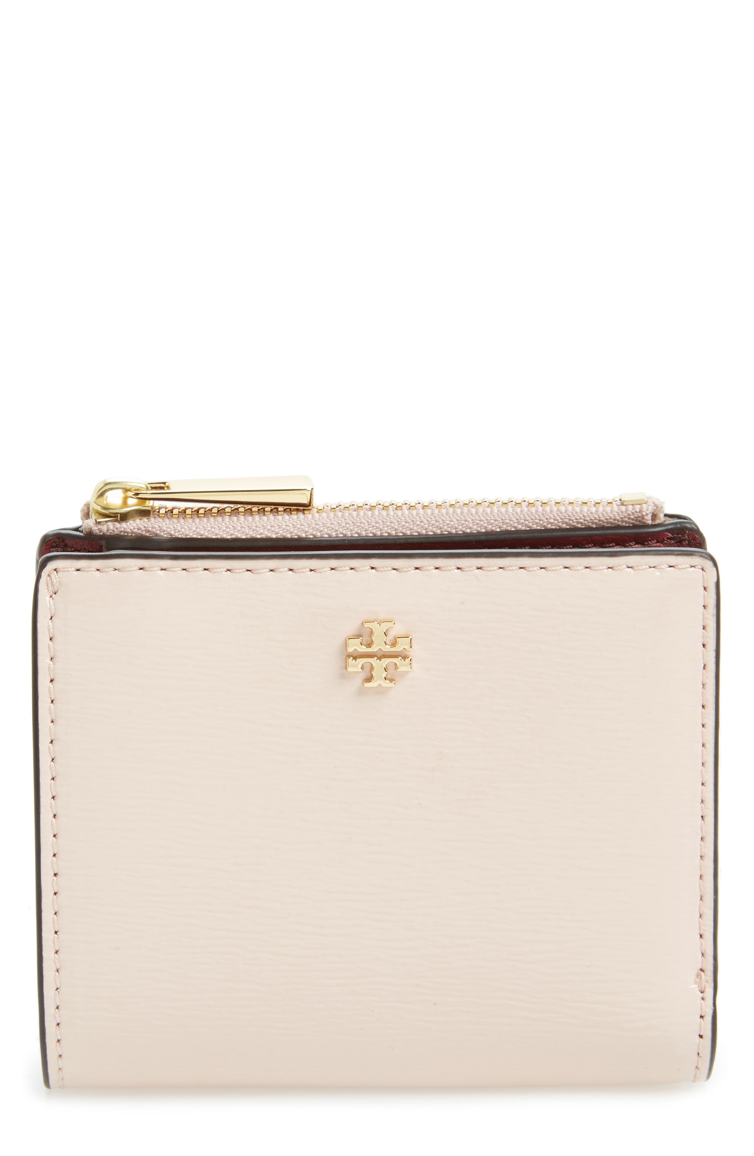 Alternate Image 1 Selected - Tory Burch Mini Robinson Wallet Patent Leather Bifold Wallet