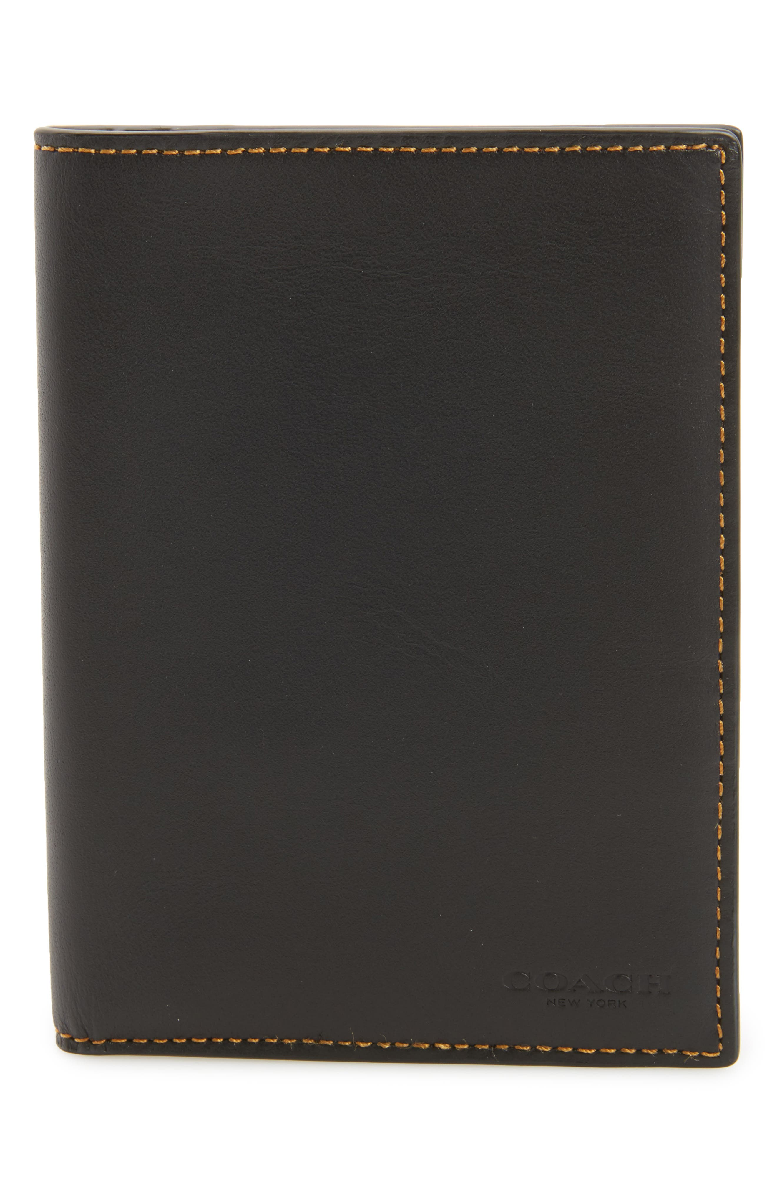 COACH 1941 Leather Passport Case