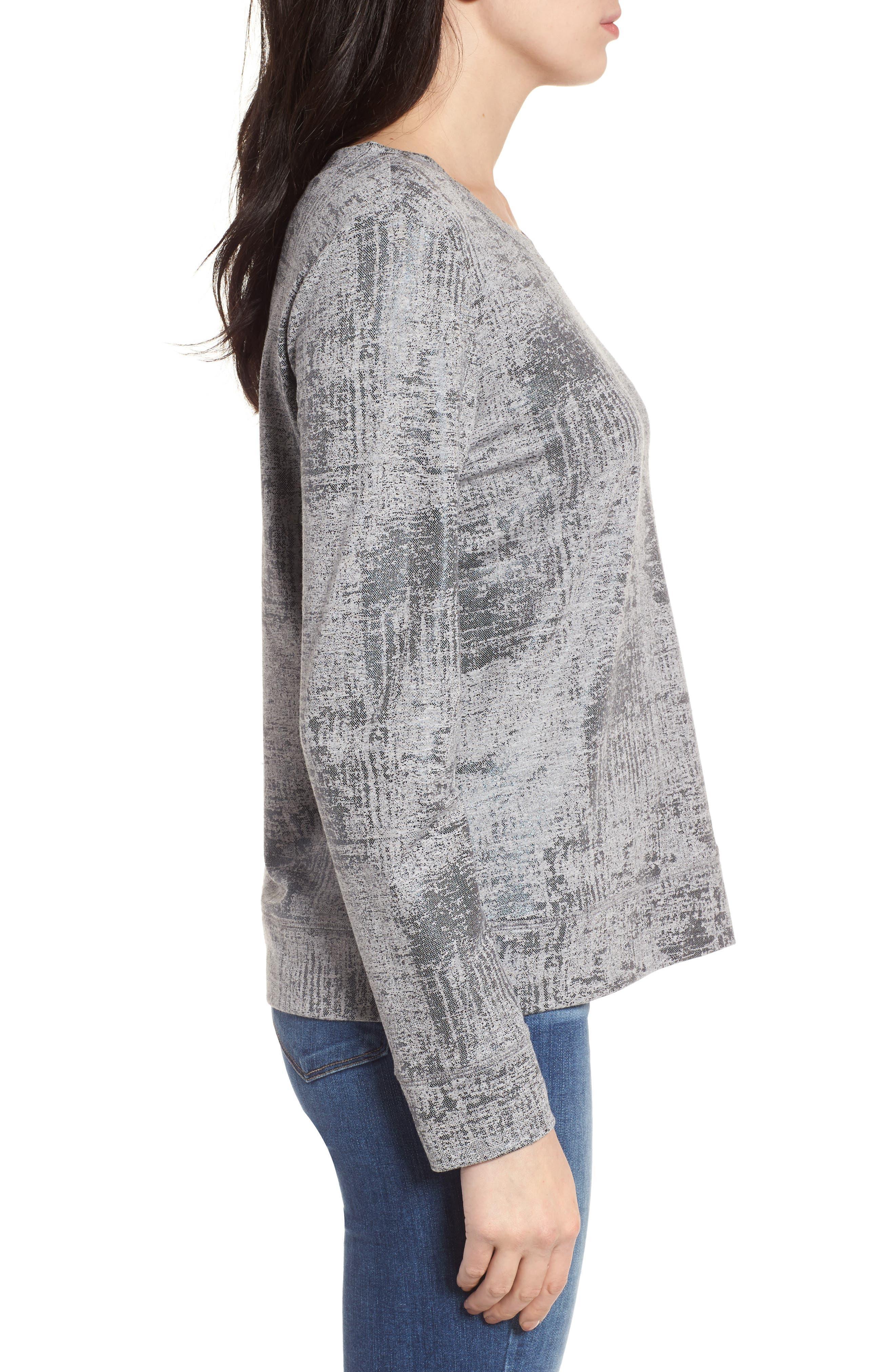 Alternate Image 3  - Halogen® Foiled Sweatshirt