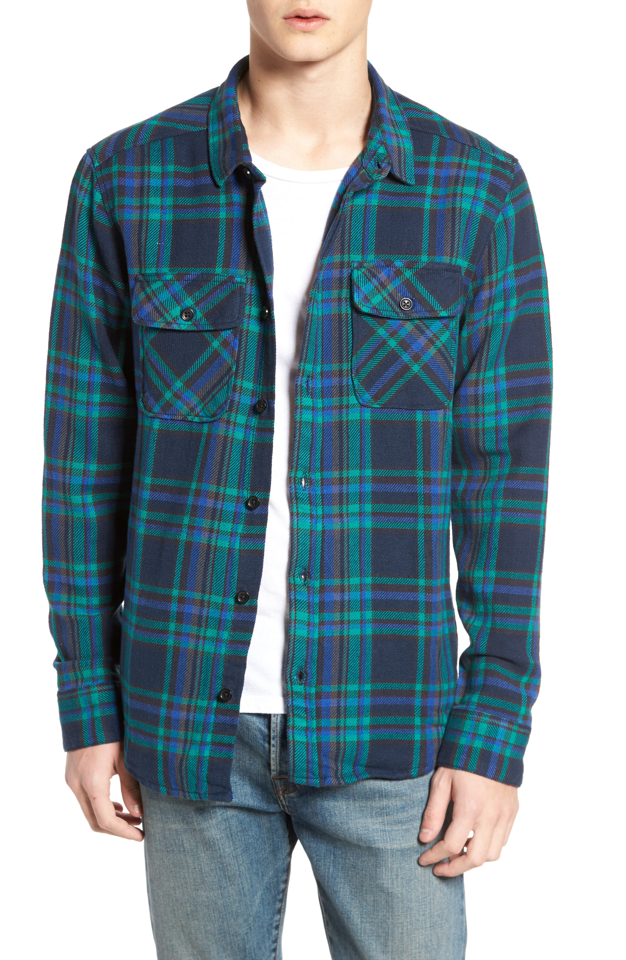 Alternate Image 1 Selected - RVCA Camino Flannel Shirt