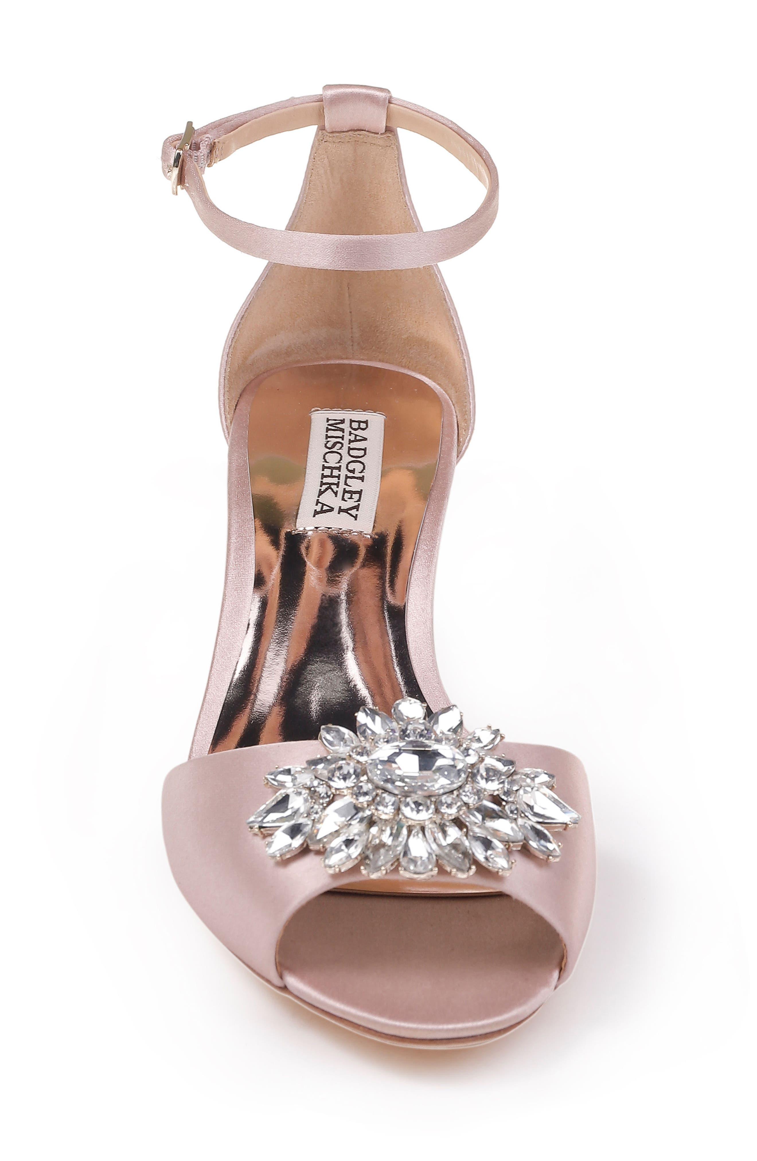 Alternate Image 4  - Badgley Mischka Sainte Crystal Embellished Sandal (Women)