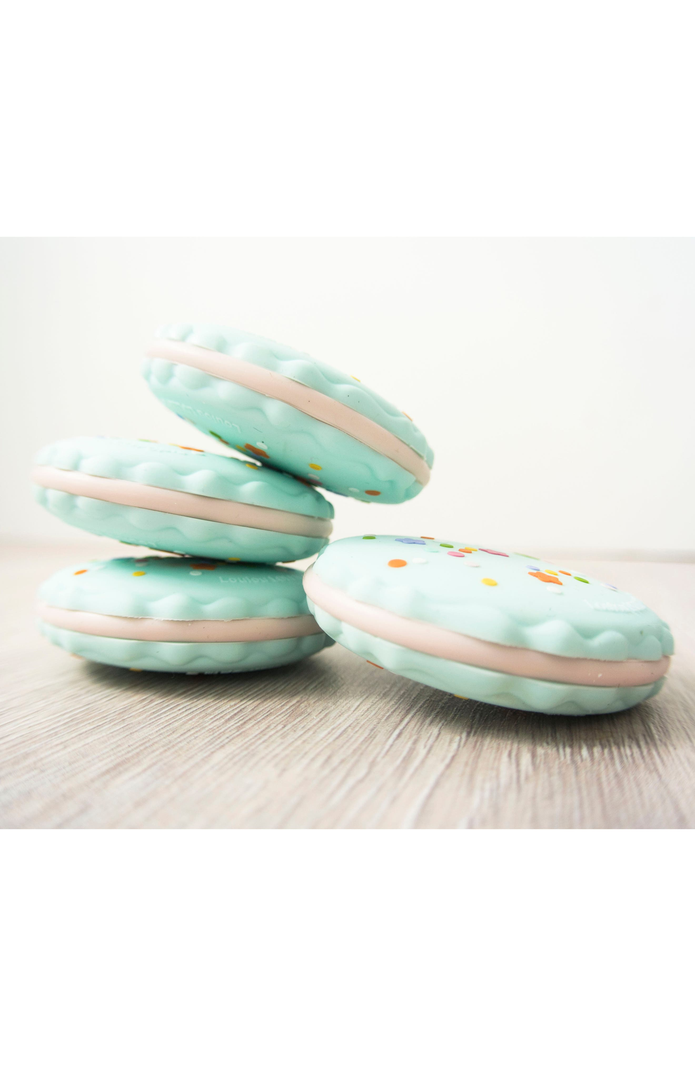 Macaron Teething Toy,                             Alternate thumbnail 2, color,                             Seafoam