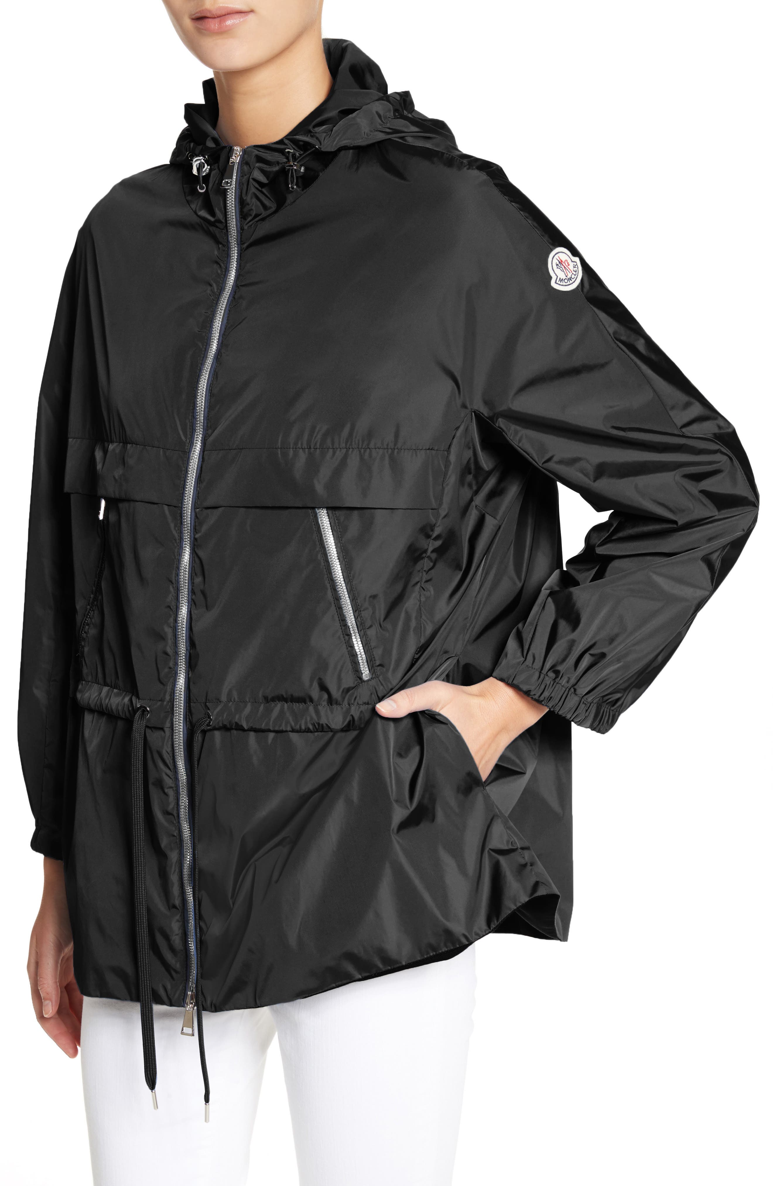 Sanvel Water Resistant Coat,                             Alternate thumbnail 4, color,                             Black