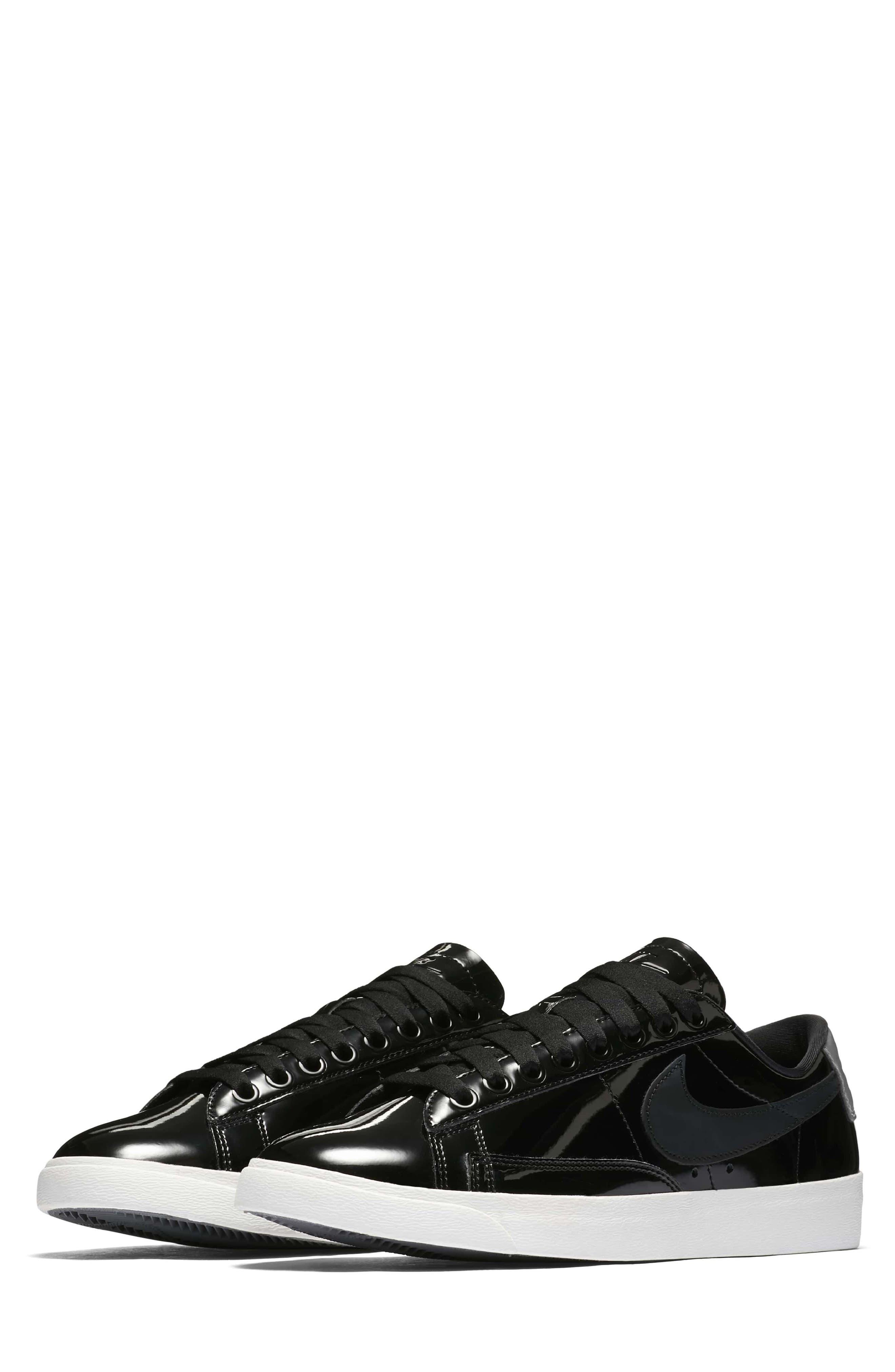 Blazer Low Top Sneaker SE,                             Main thumbnail 1, color,                             Black/ Black Reflect Silver
