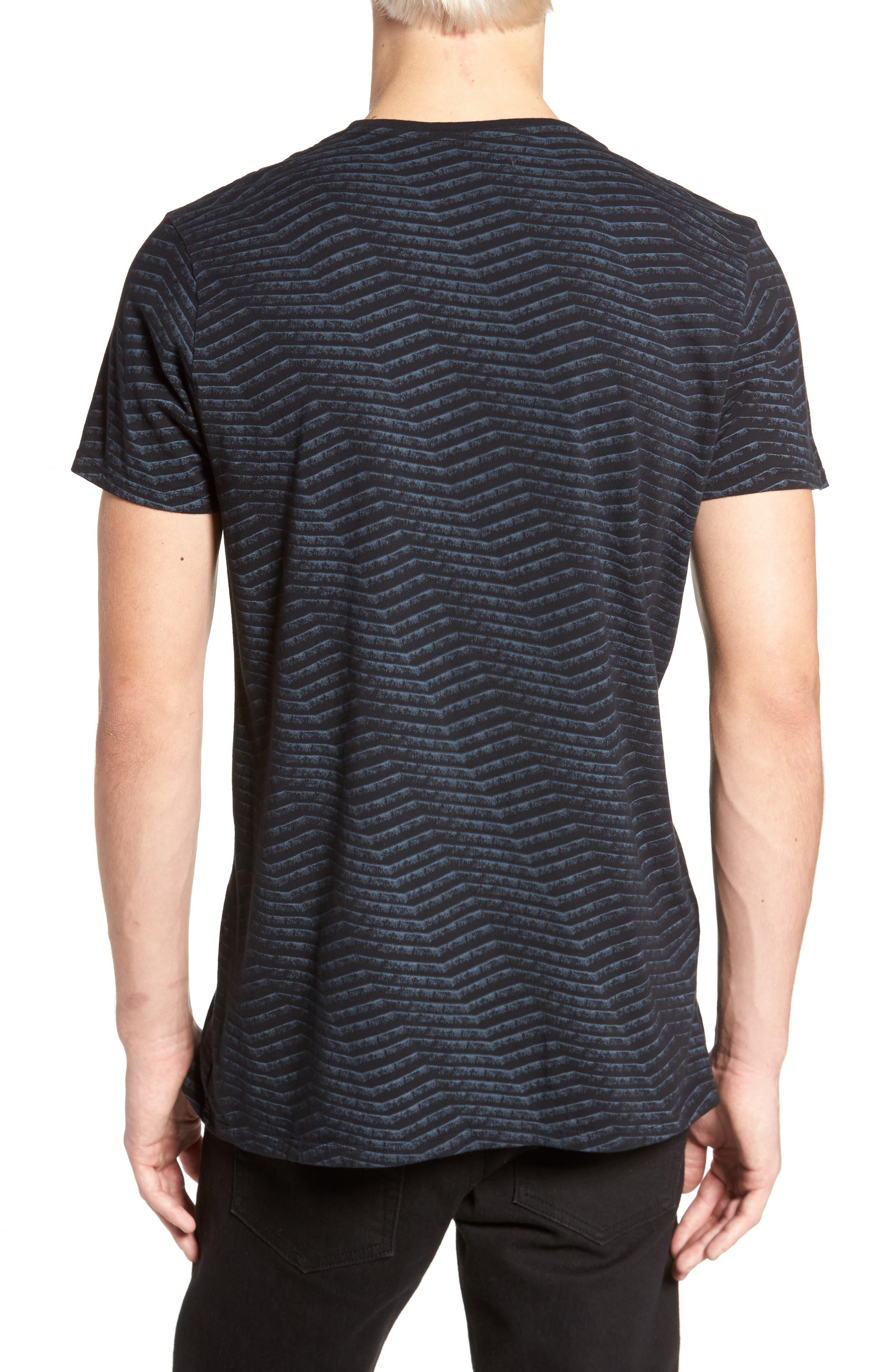 Chevron Stripe T-Shirt,                             Alternate thumbnail 2, color,                             Black