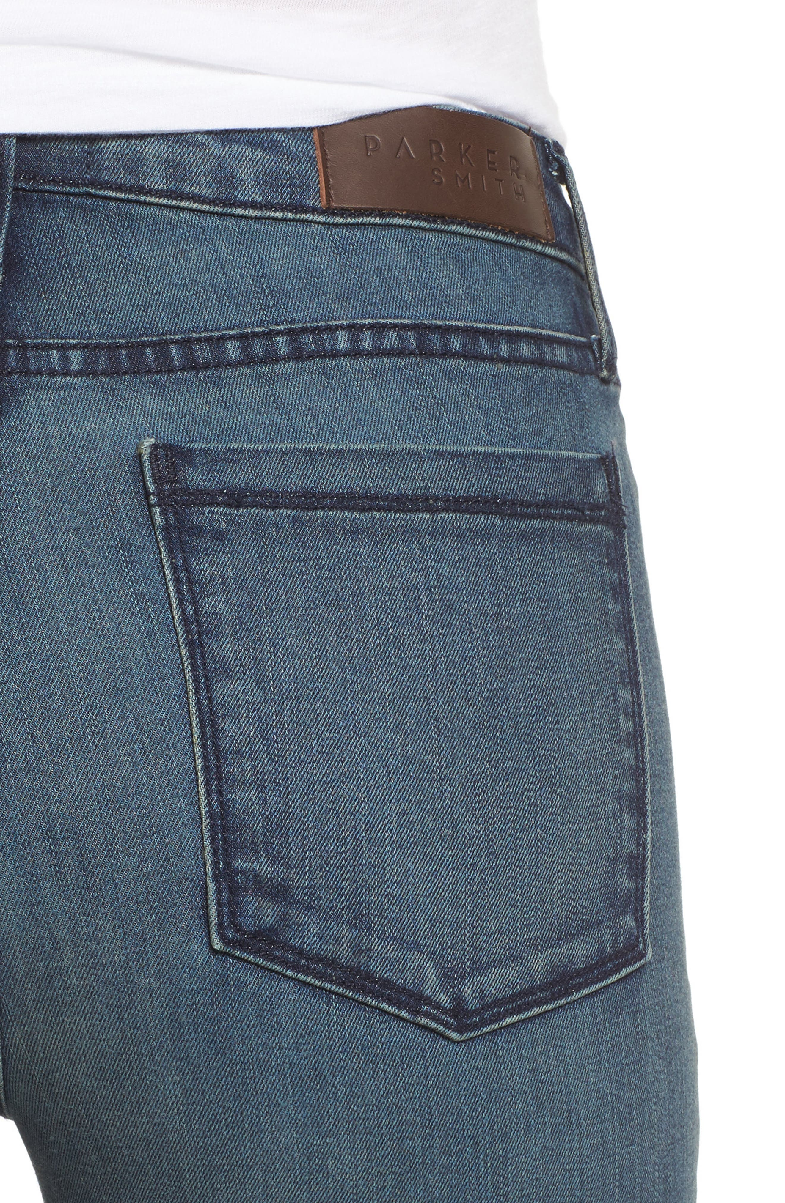 Alternate Image 4  - PARKER SMITH Pin-Up Straight Crop Jeans (Ocean Boulevard)