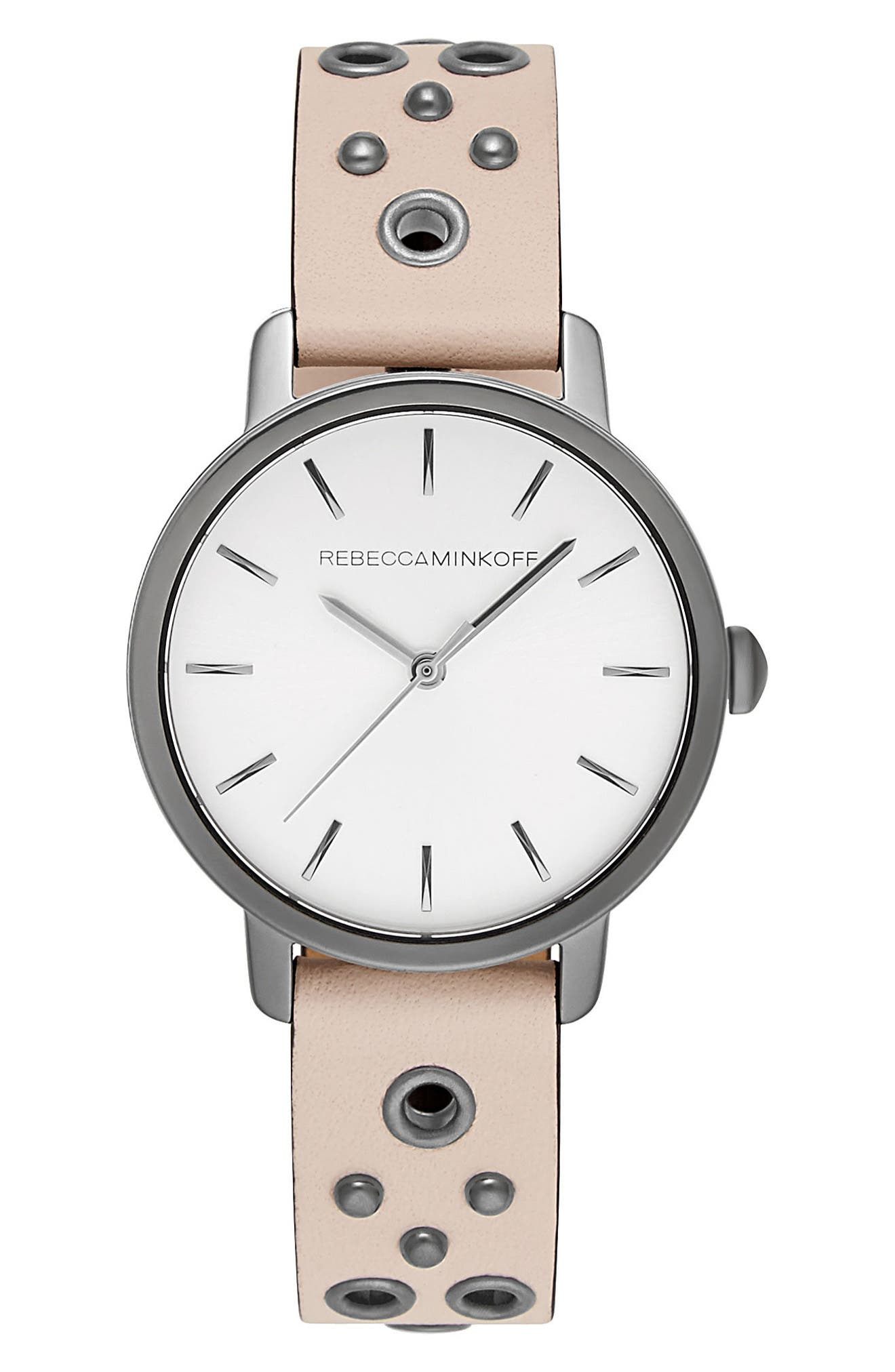 Rebecca Minkoff BFFL Embellished Leather Strap Watch, 36mm