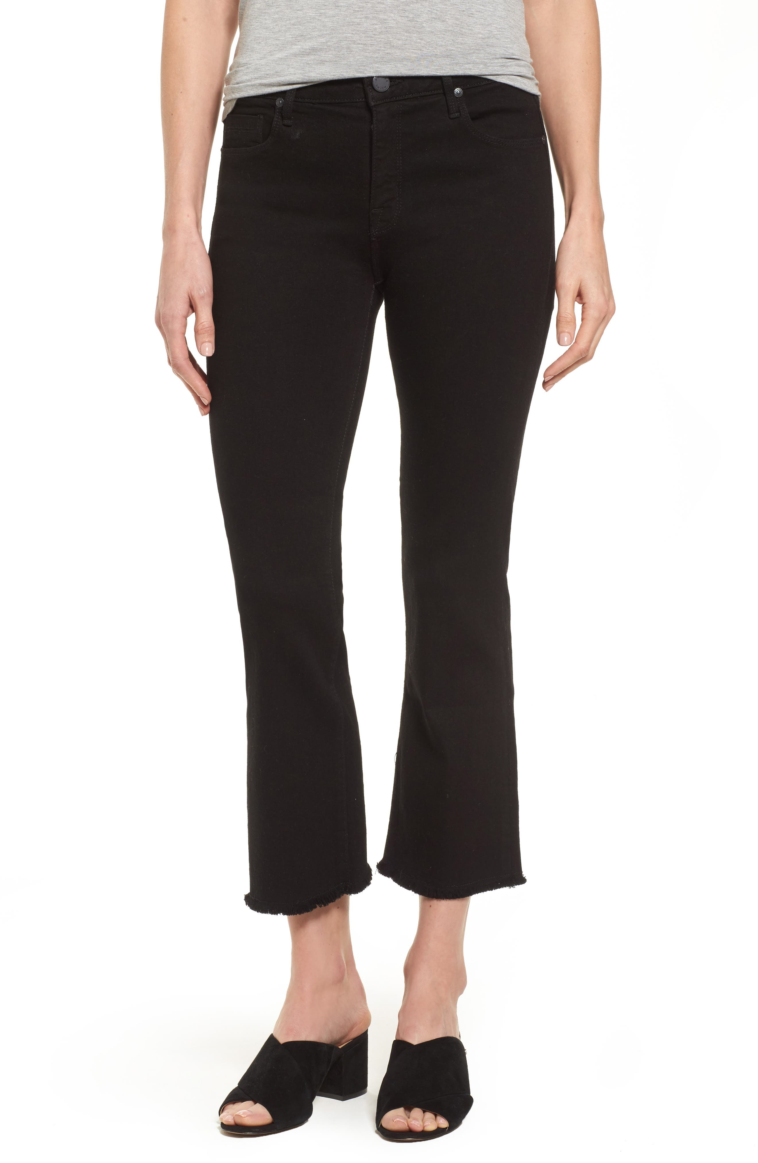 Main Image - PARKER SMITH Cropped Flare Jeans (Stallion)