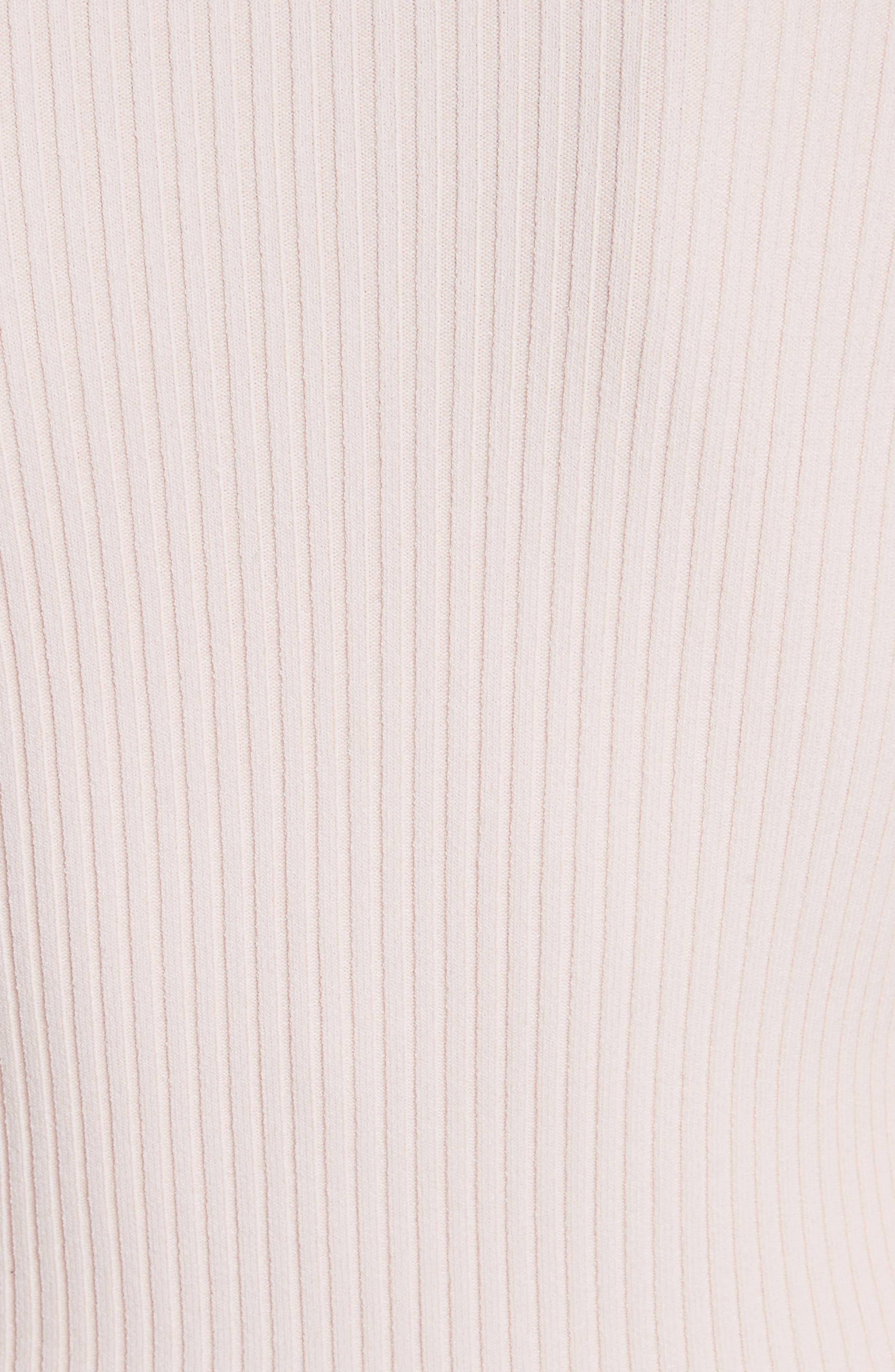 Noya Ruffle Cardigan,                             Alternate thumbnail 5, color,                             Pearl Blush