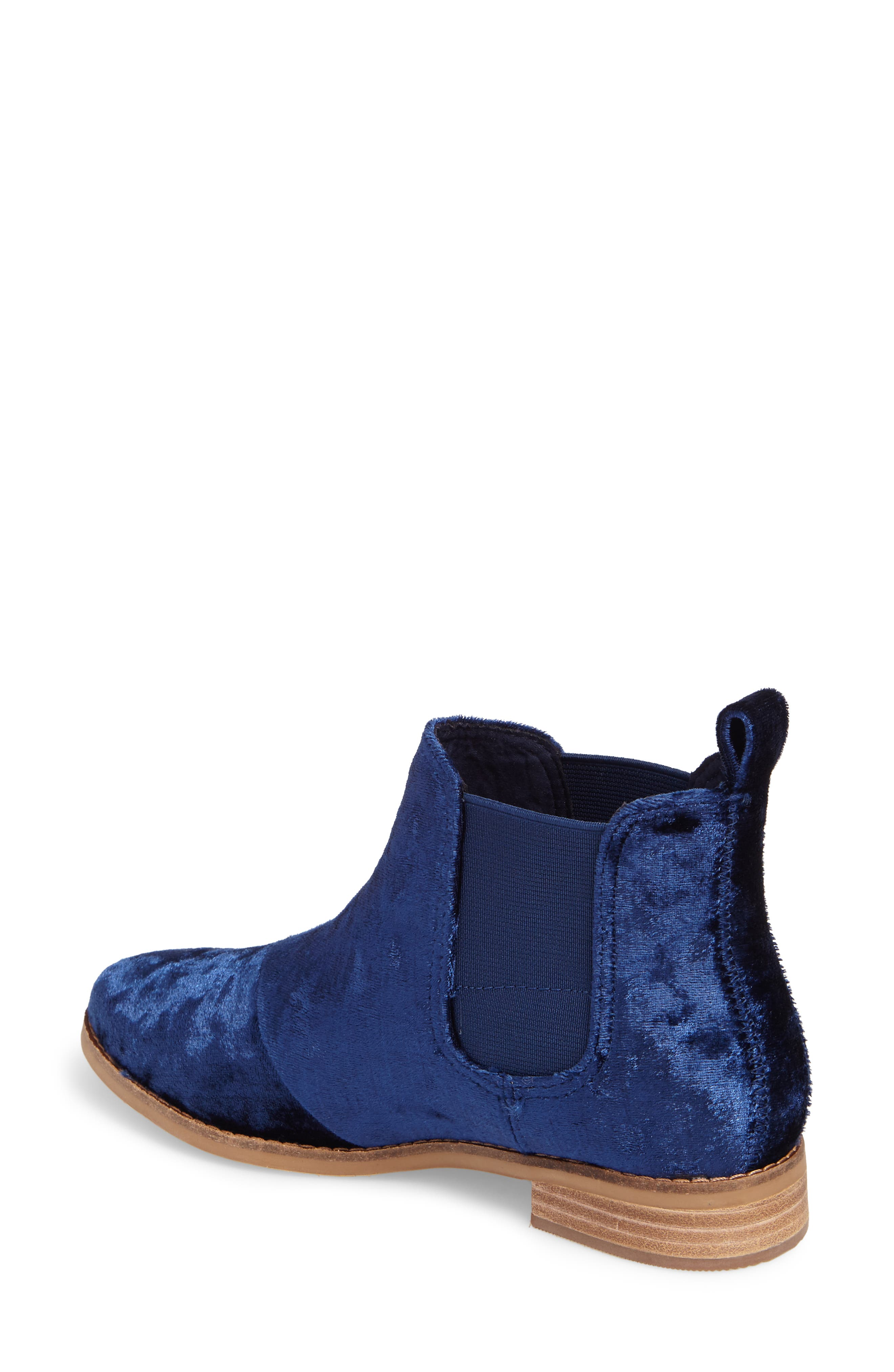 Ella Bootie,                             Alternate thumbnail 2, color,                             Navy Fabric