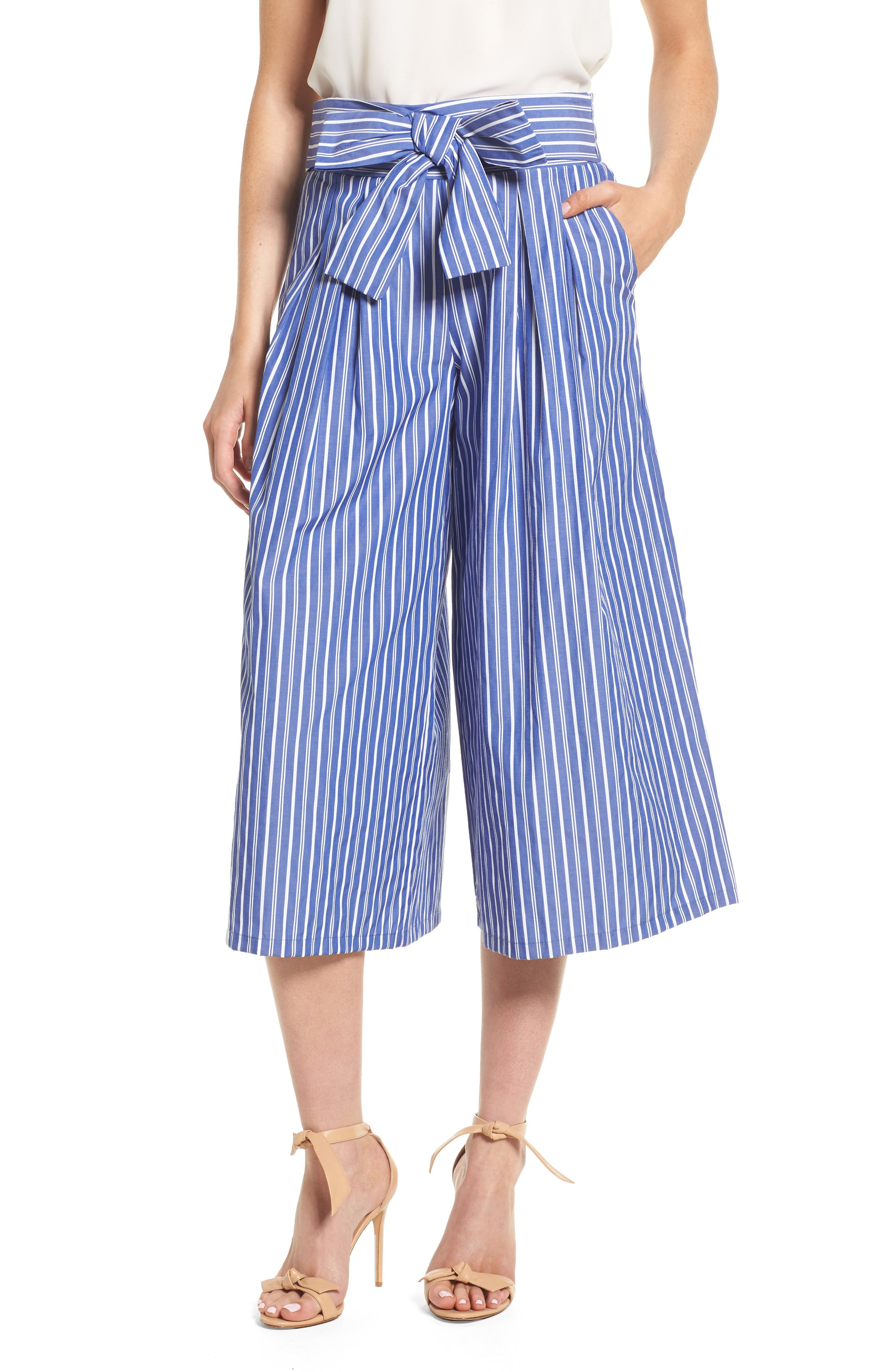 Zadeh Pants,                         Main,                         color, Blue/ White