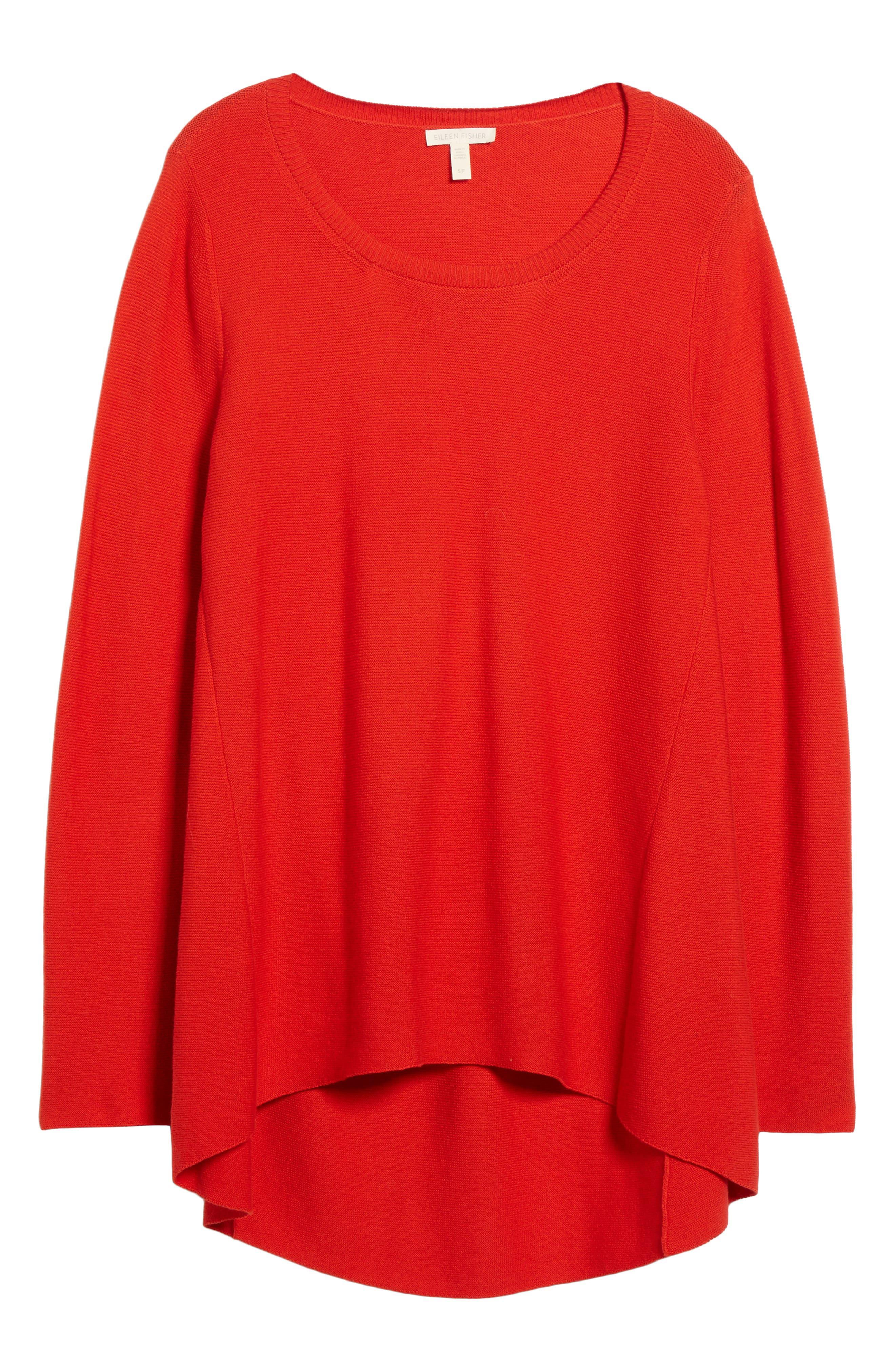 Alternate Image 7  - Eileen Fisher Organic Cotton Tunic Sweater (Regular & Petite)