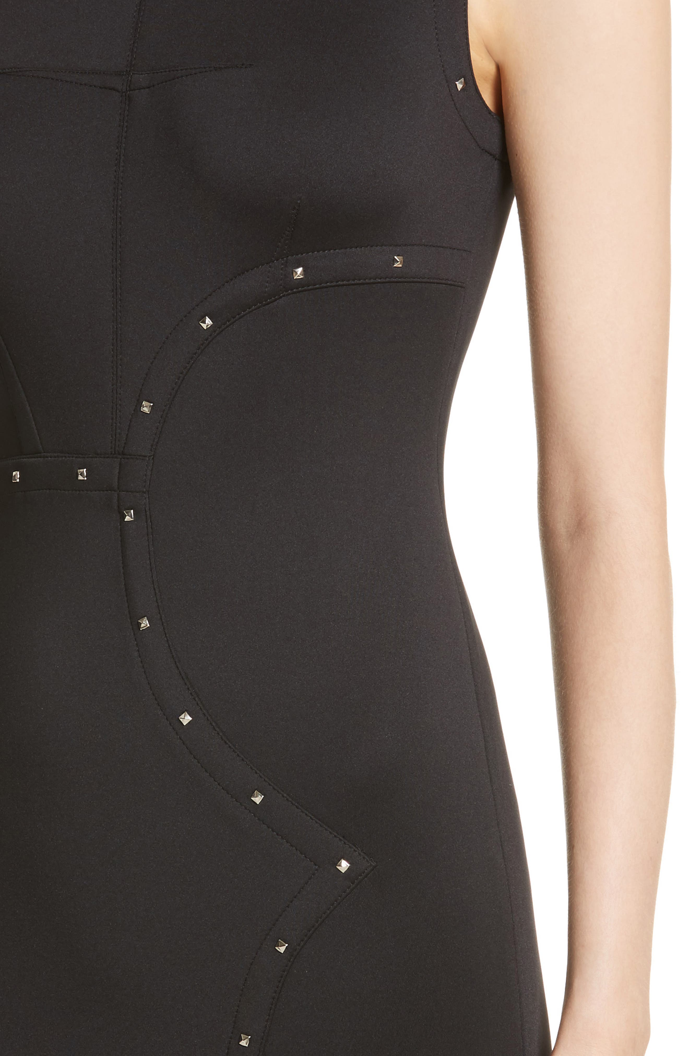 Alternate Image 4  - Yigal Azrouël Studded Scuba Sheath Dress