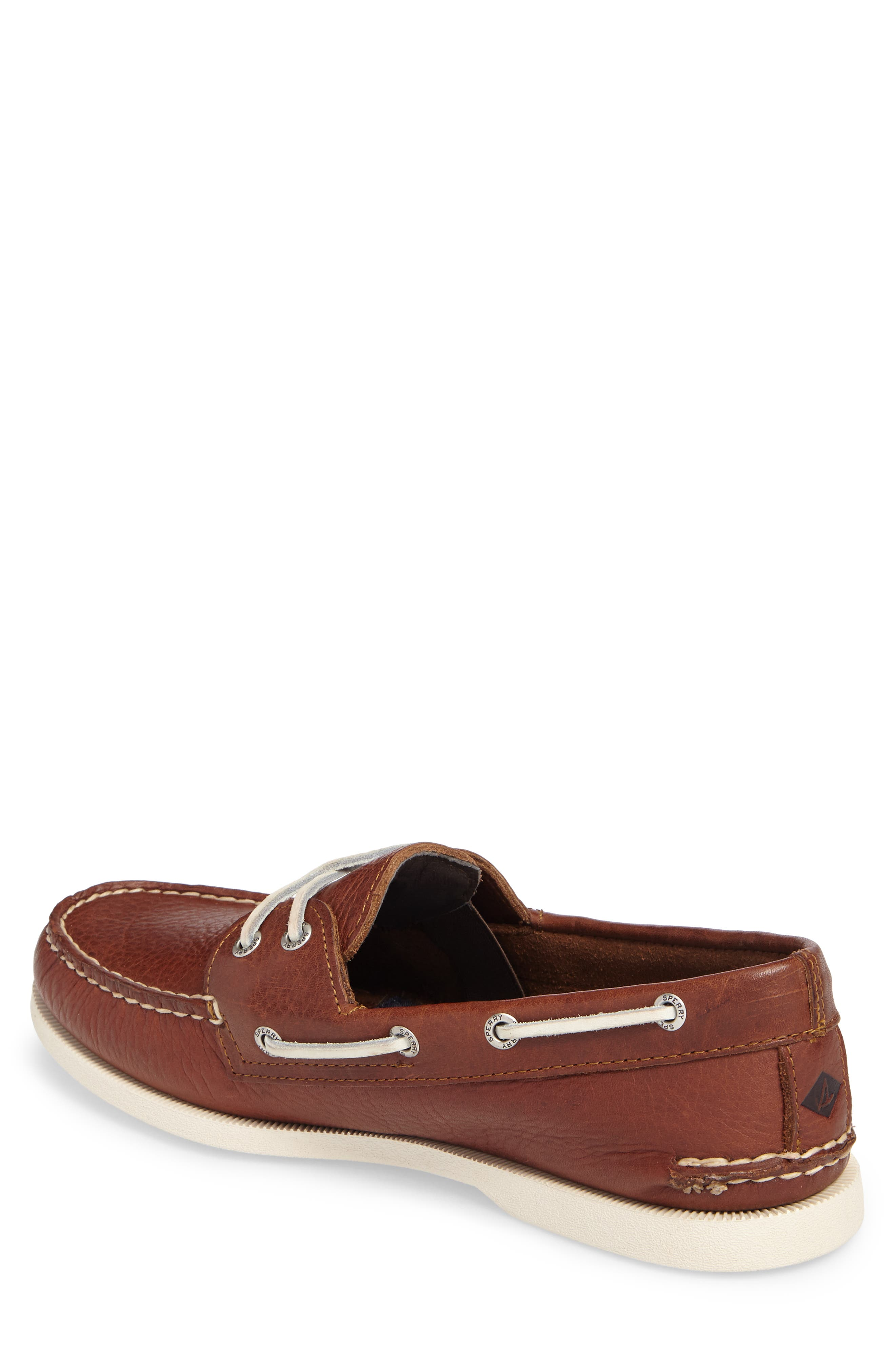 Authentic Original Boat Shoe,                             Alternate thumbnail 2, color,                             Brown Leather