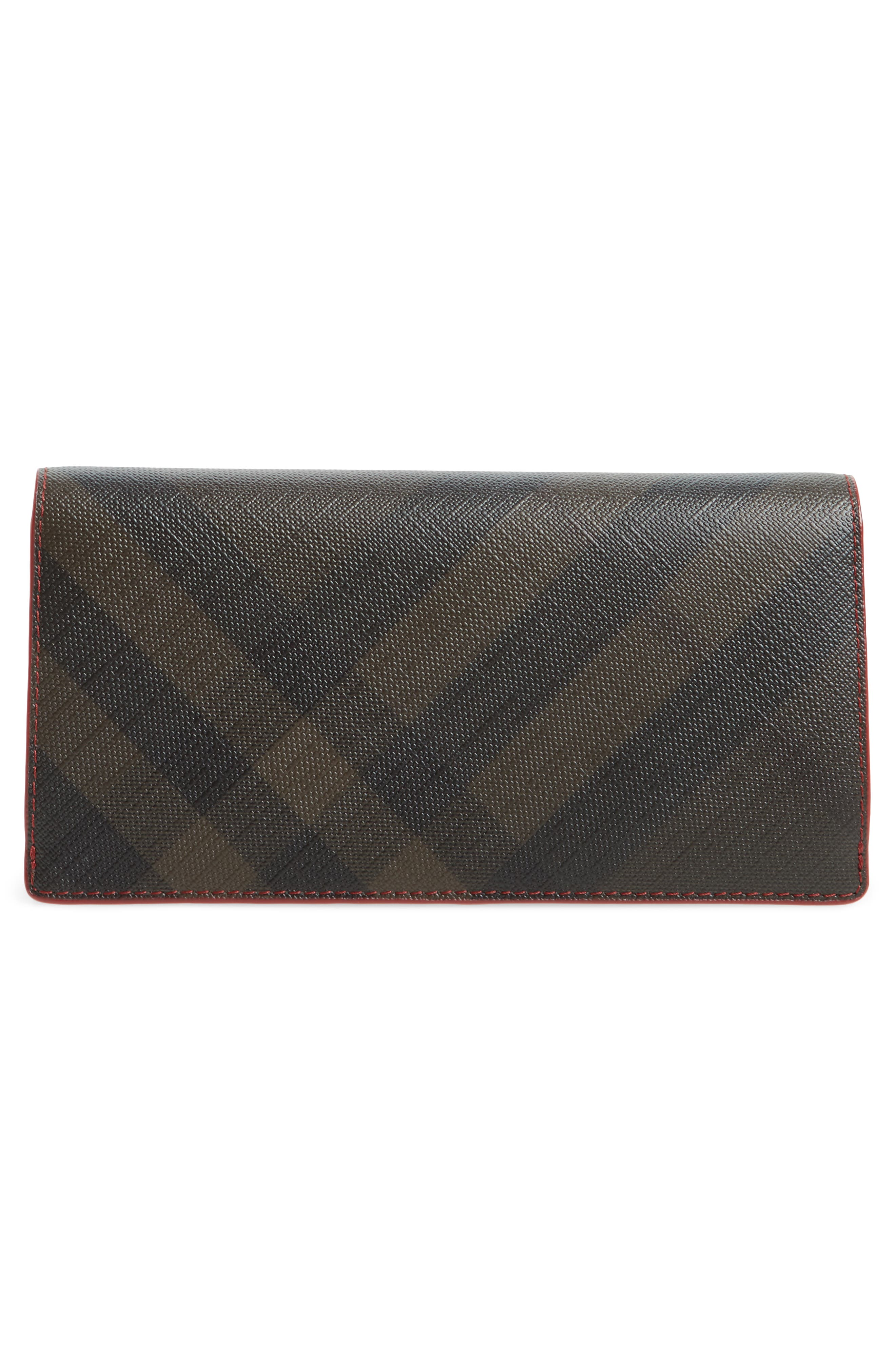 Check Wallet,                             Alternate thumbnail 3, color,                             Chocolate/ Red