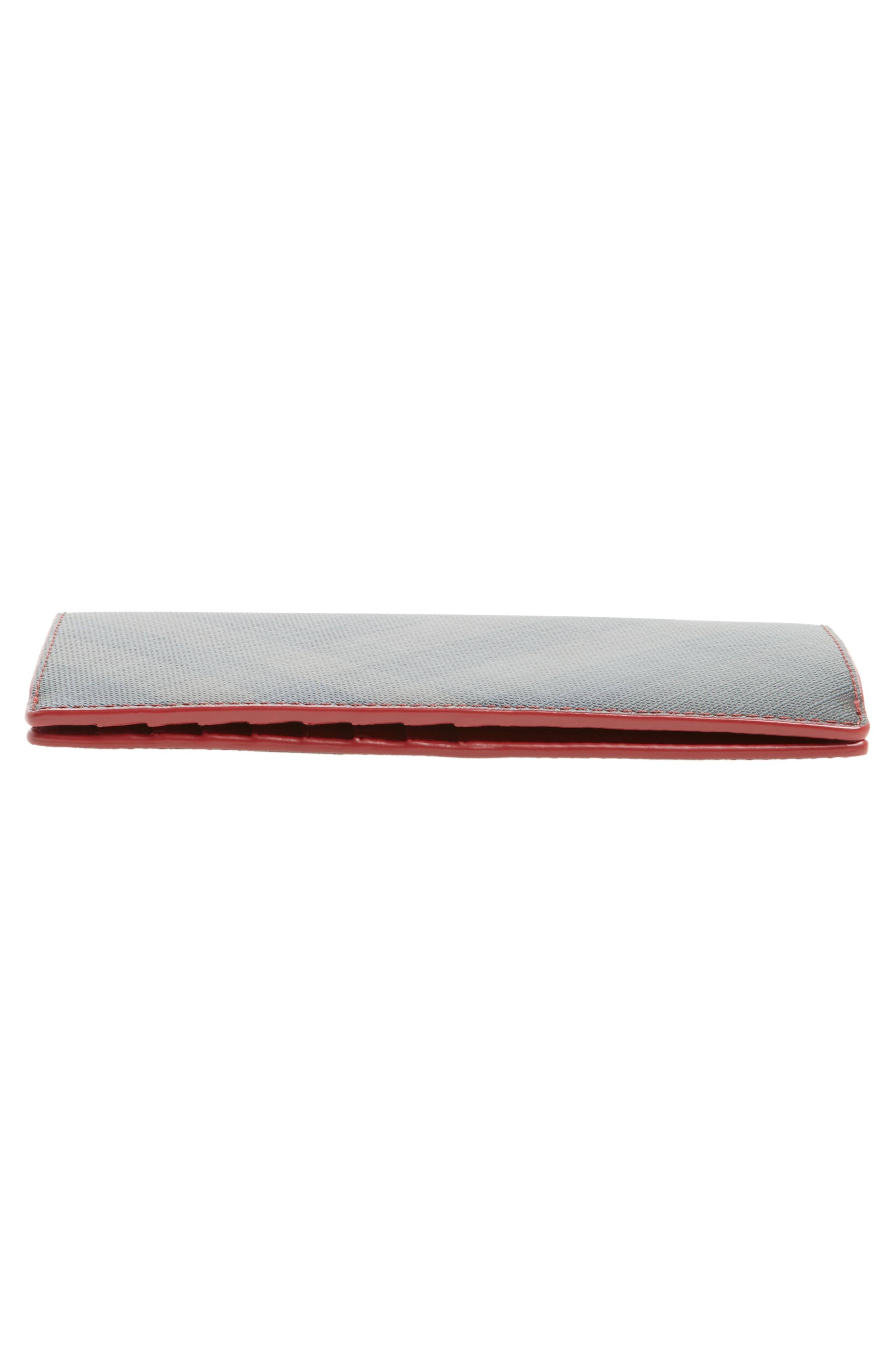 Check Wallet,                             Alternate thumbnail 4, color,                             Chocolate/ Red