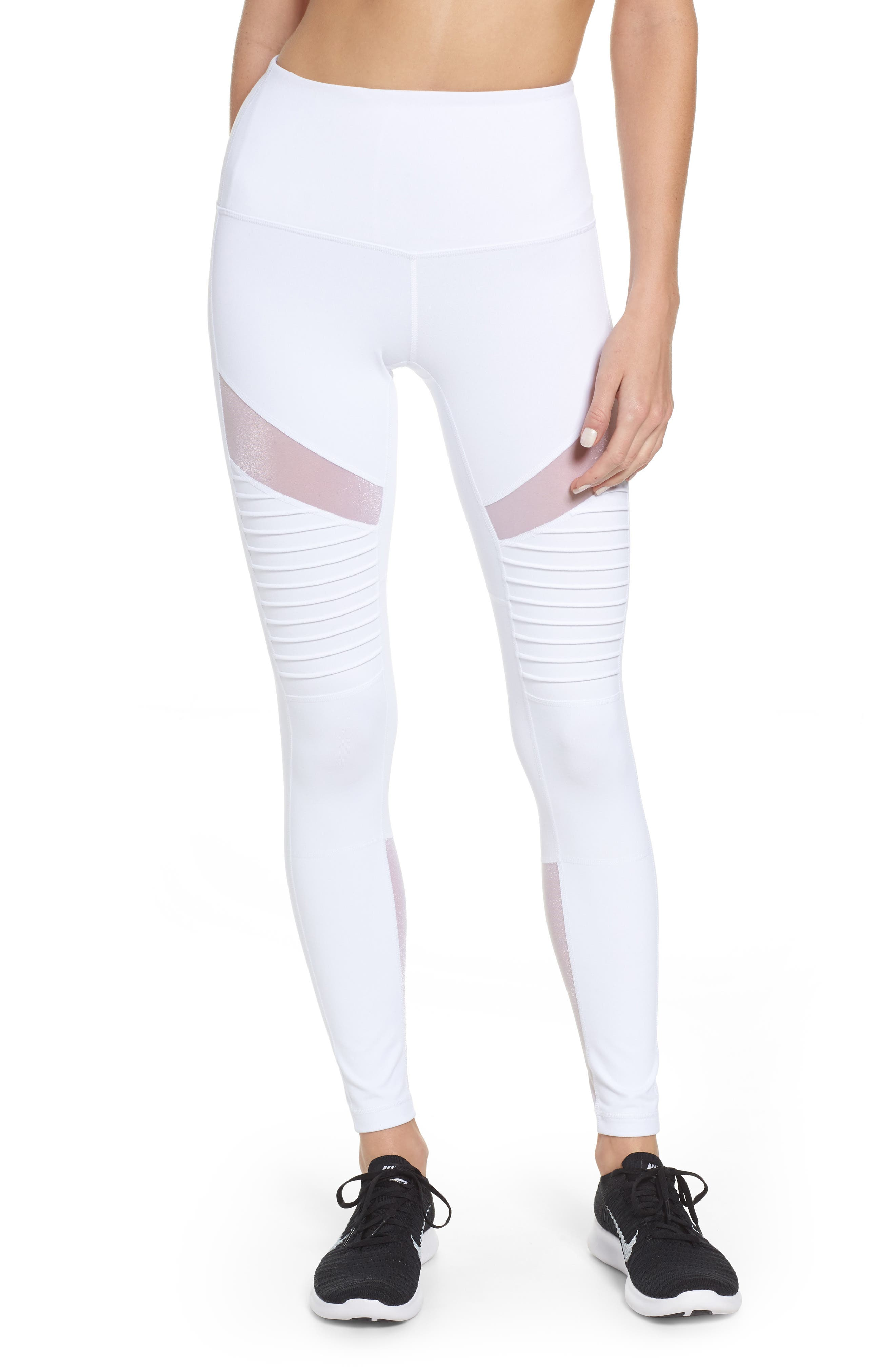 Alternate Image 1 Selected - Zella Autumn High Waist Moto Ankle Leggings
