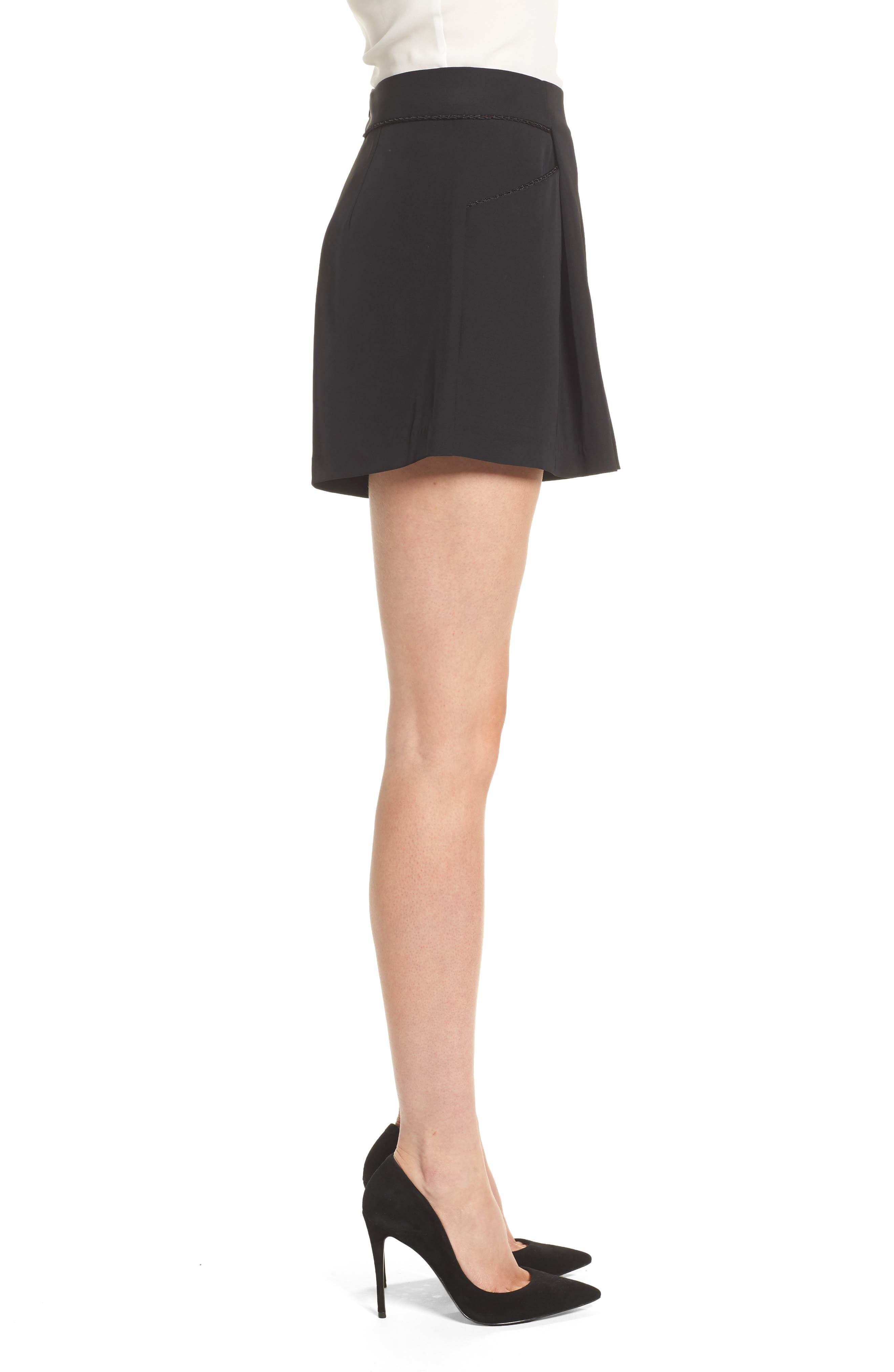 Ceremony High Waist Shorts,                             Alternate thumbnail 3, color,                             Black