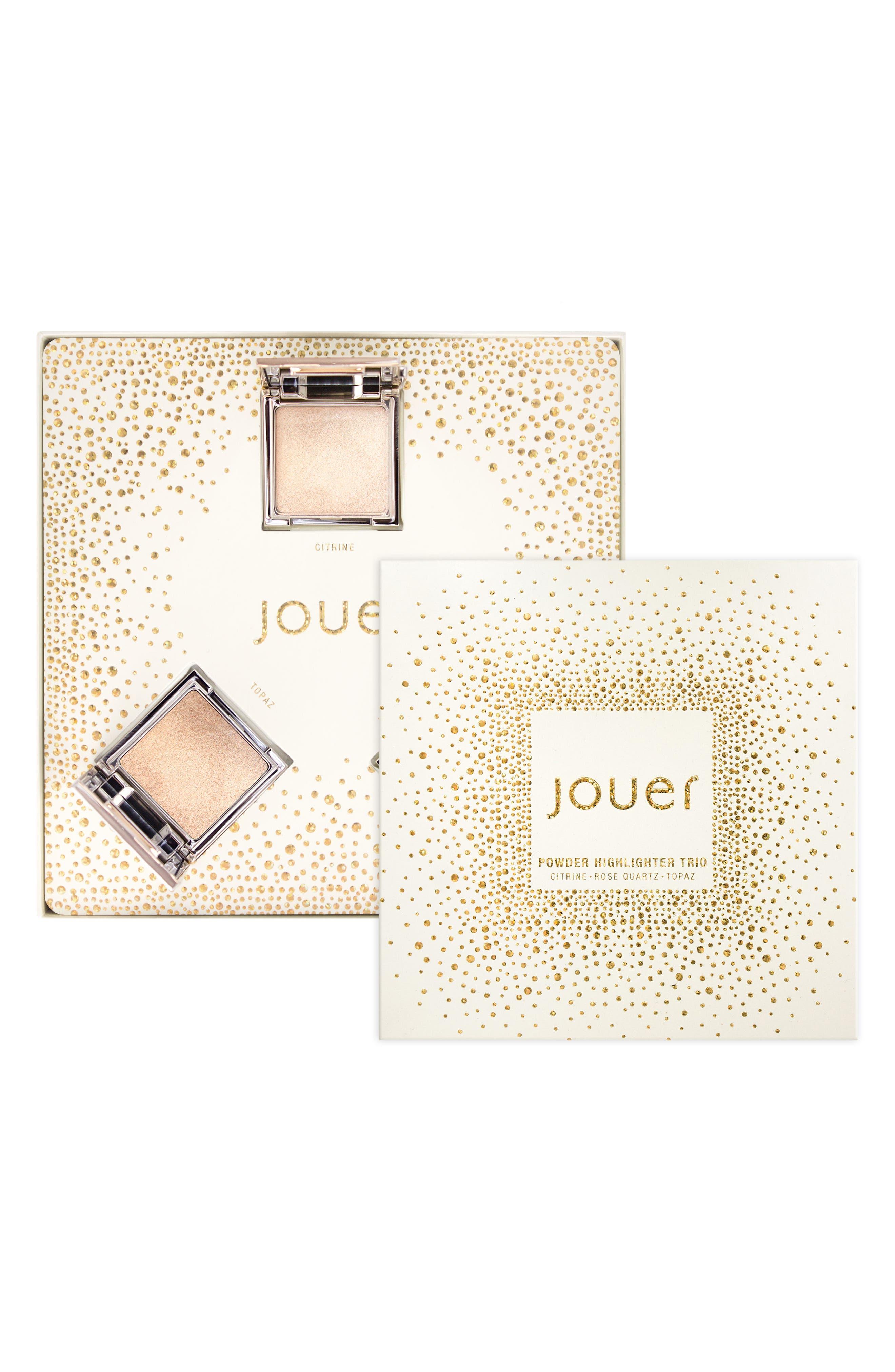 Jouer Skinny Dip, Peach & Rose Gold Powder Highlighter Trio ($60 Value)