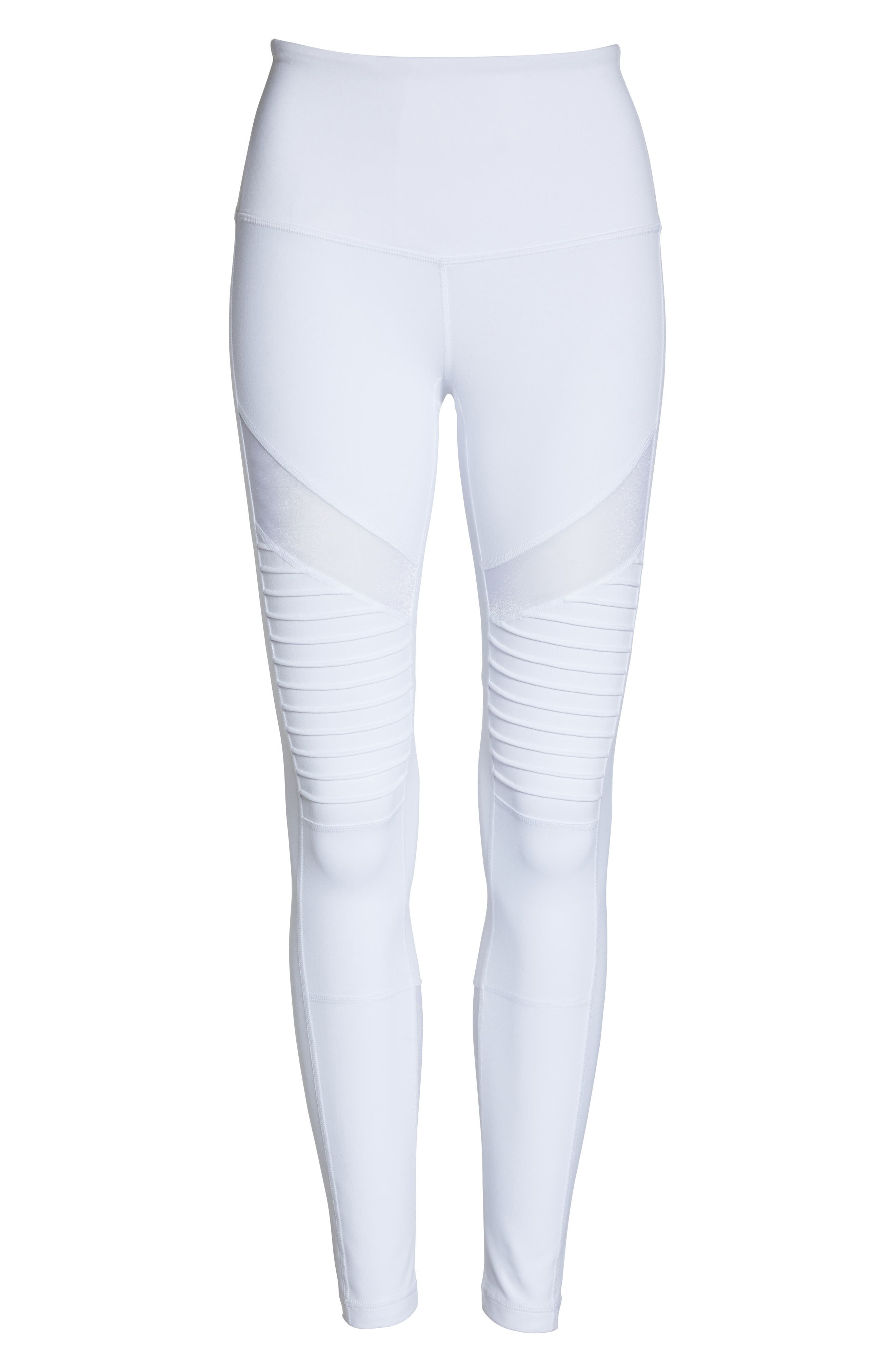 Alternate Image 6  - Zella Autumn High Waist Moto Ankle Leggings