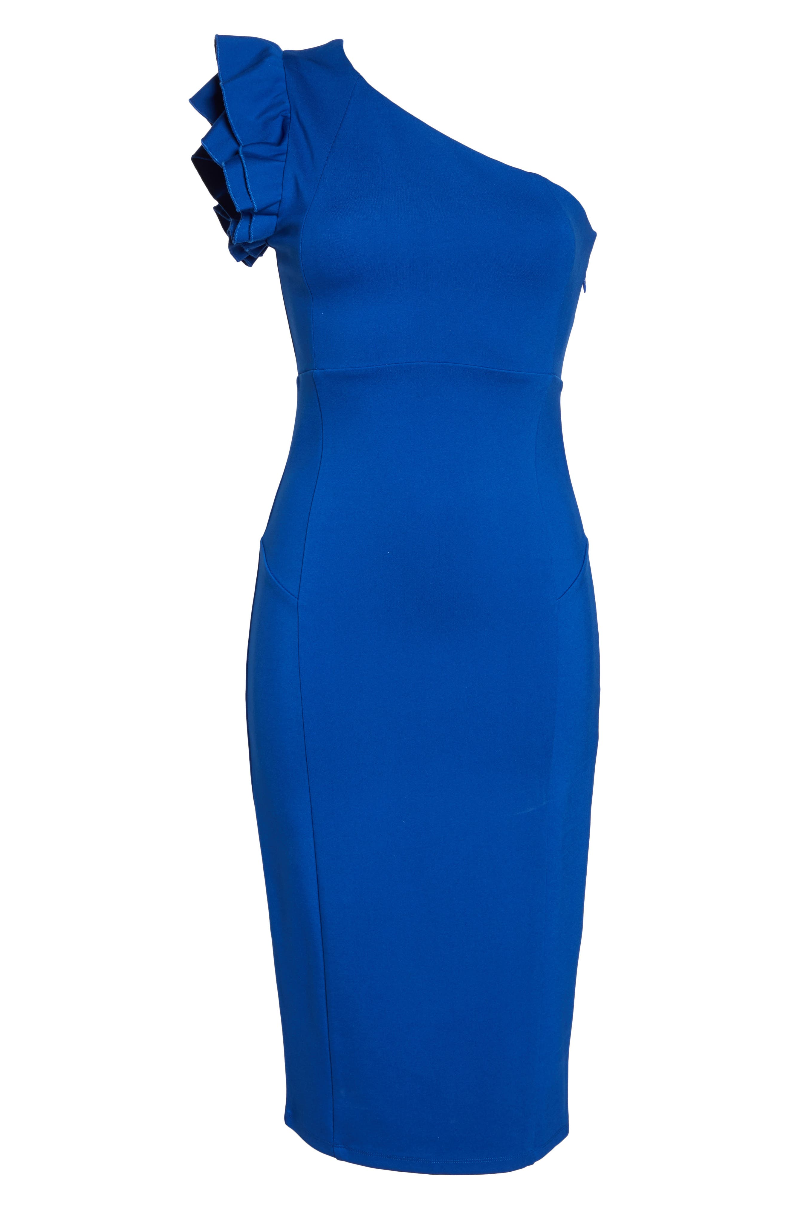 Alternate Image 6  - Felicity & Coco Marilyn One-Shoulder Sheath Dress (Nordstrom Exclusive)